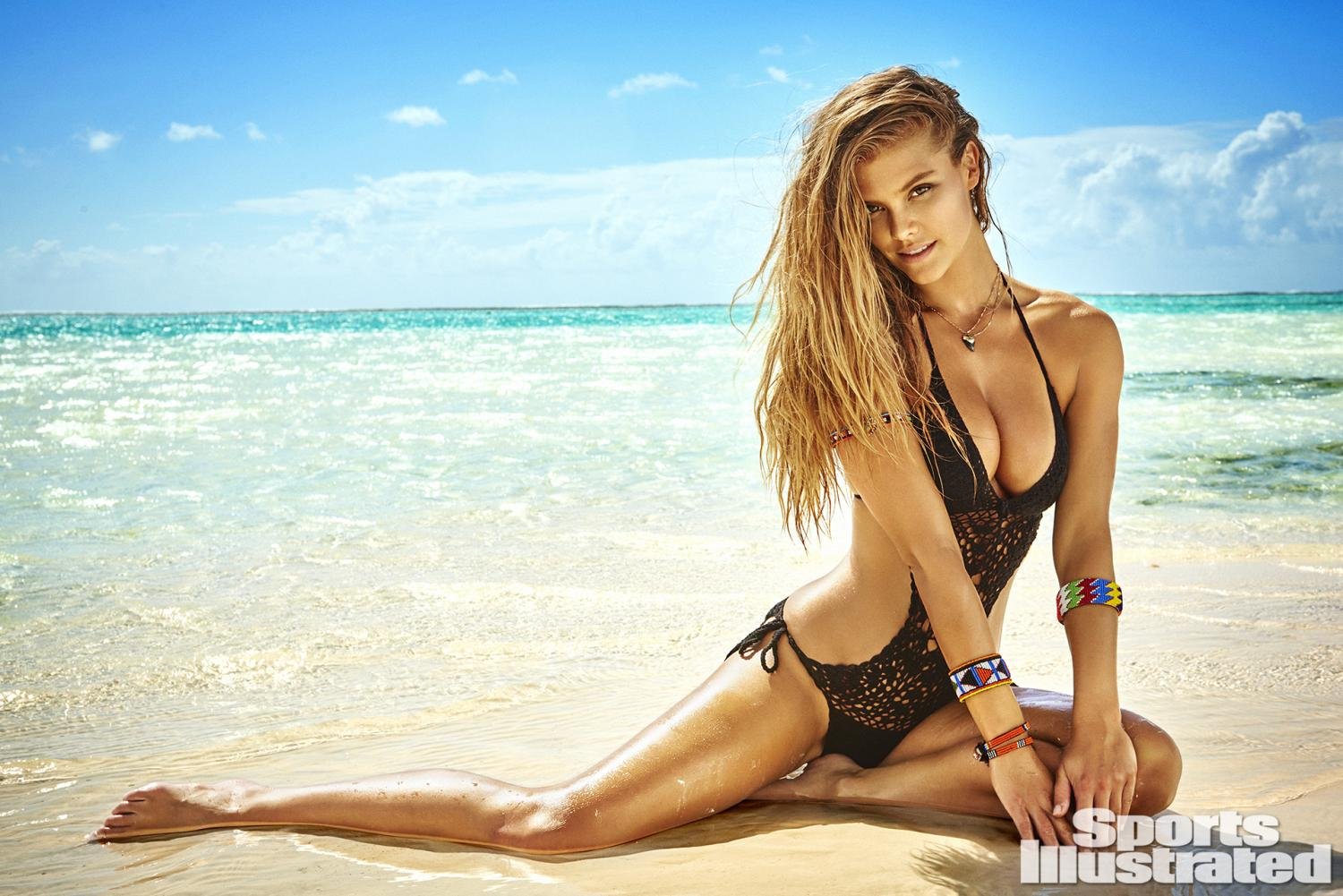 Nina Agdal was photographed by Ruven Afanador in Zanzibar. Swimsuit by Beauty & The Beach.