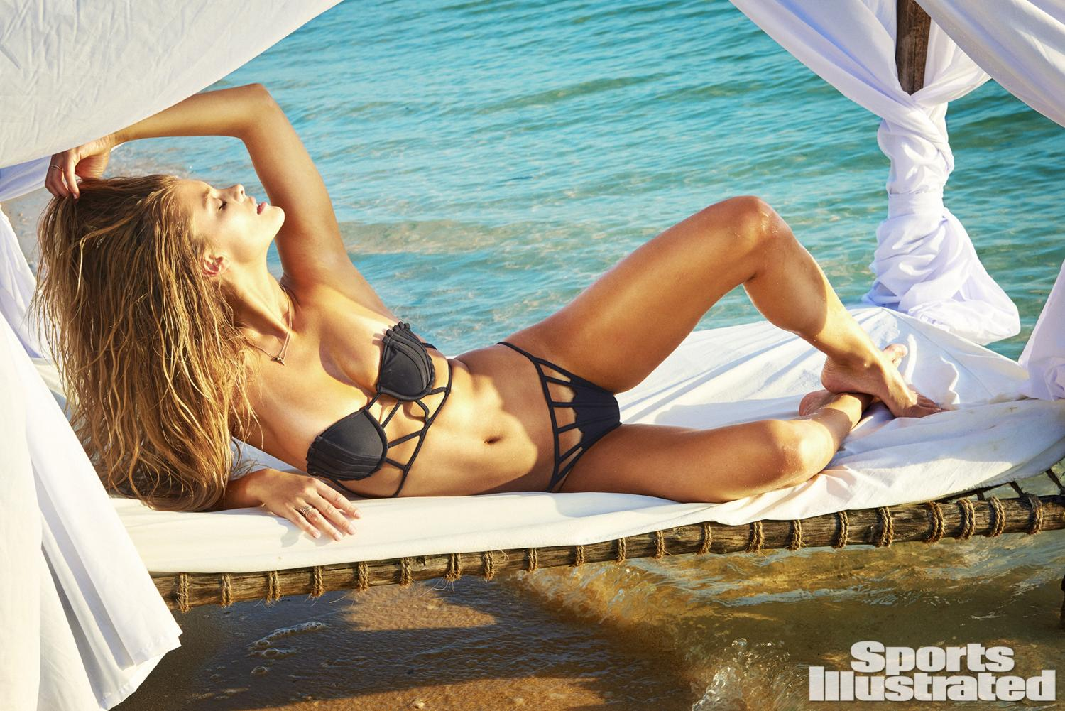 Nina Agdal was photographed by Ruven Afanador in Zanzibar. Swimsuit by Lee + Lani.