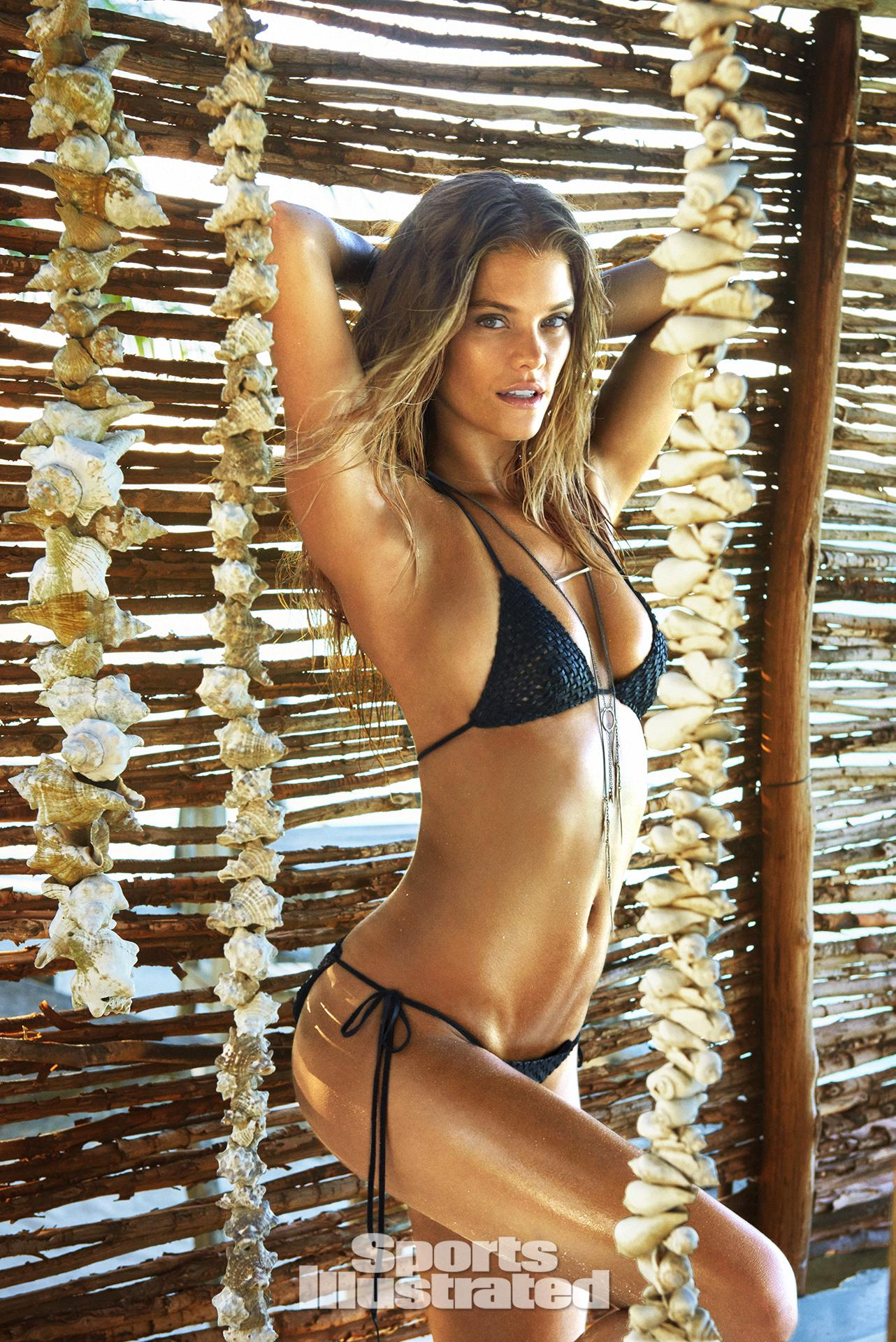 Nina Agdal was photographed by Ruven Afanador in Zanzibar. Swimsuit by Lost Art By Jordan Betten.