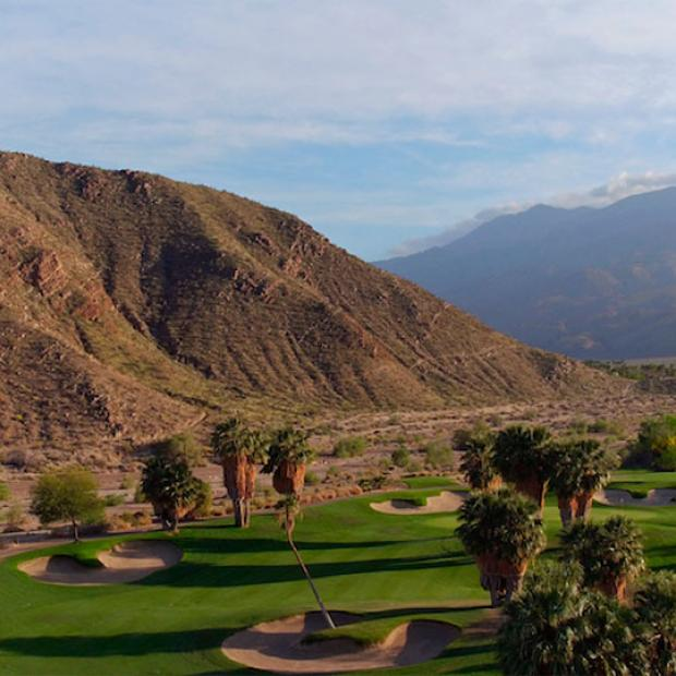 The 3rd fairway at Indian Canyons South Course in Palm Springs, California.