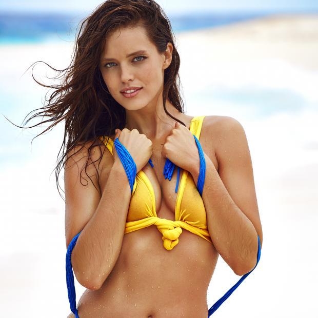 Camille Kostek Si Blue: Caroline Wozniacki Swimsuit Body Paint Photos, Sports