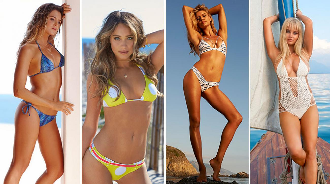 Anastasia Ashley, Hannah Davis, Kelly Rohrbach and Genevieve Morton for SI Swimsuit