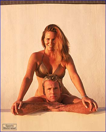 Chuck Finley and Tawny Kitaen