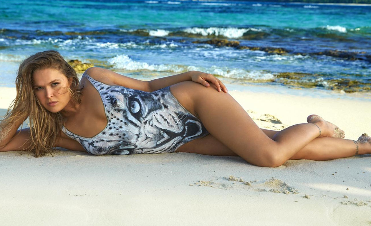 Ronda Rousey 2016 Swimsuit Bodypaint Gallery Sicom