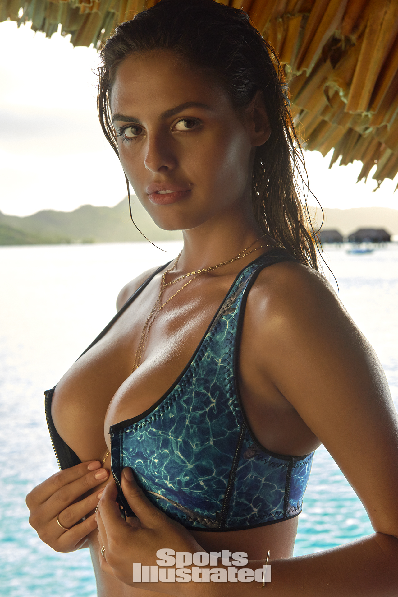 Bo Krsmanovic was photographed by Yu Tsai in The Islands Of Tahiti. Swimsuit by Abysse.