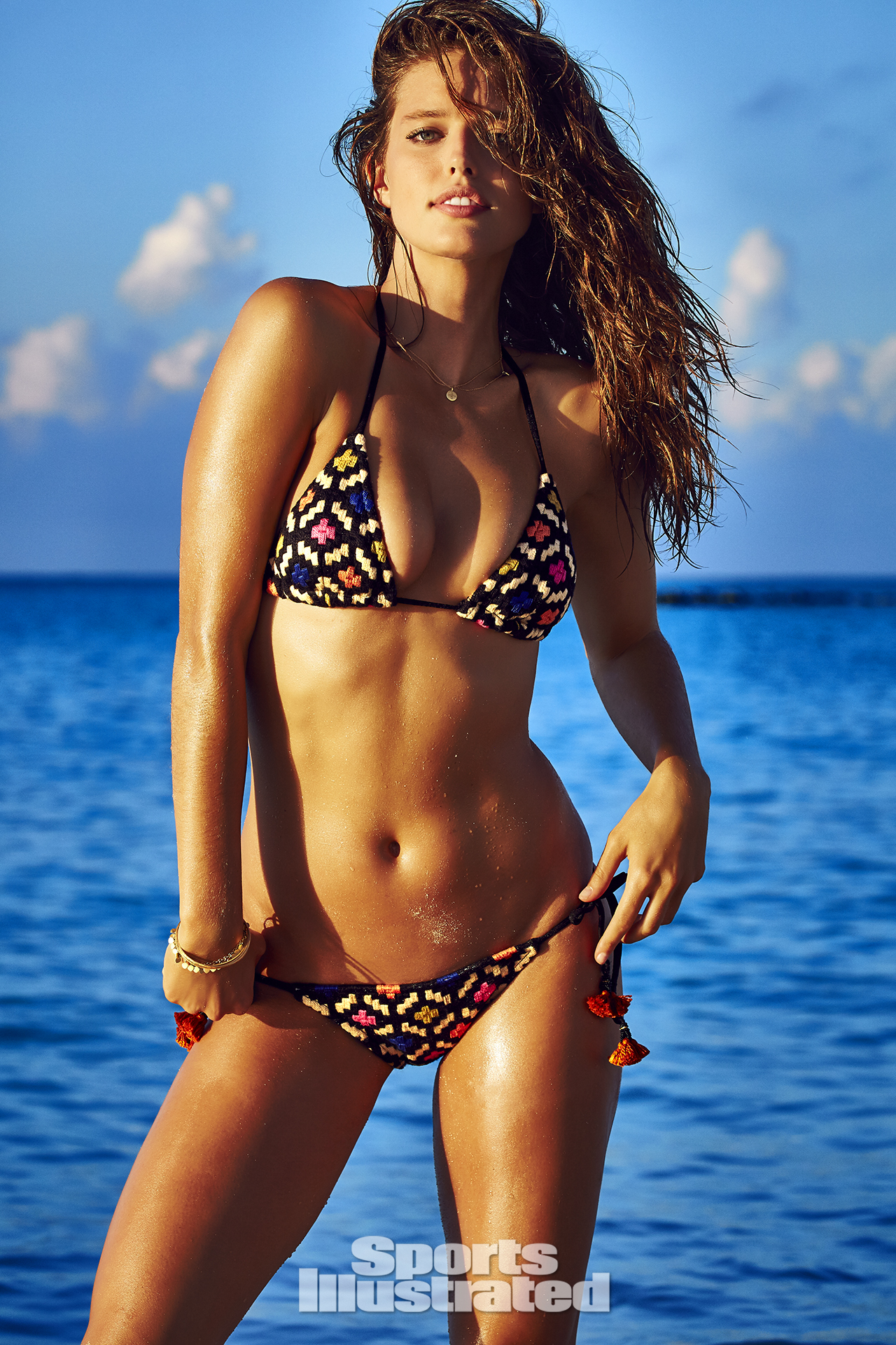 Emily DiDonato was photographed by James Macari in Turks & Caicos. Swimsuit by Salinas.