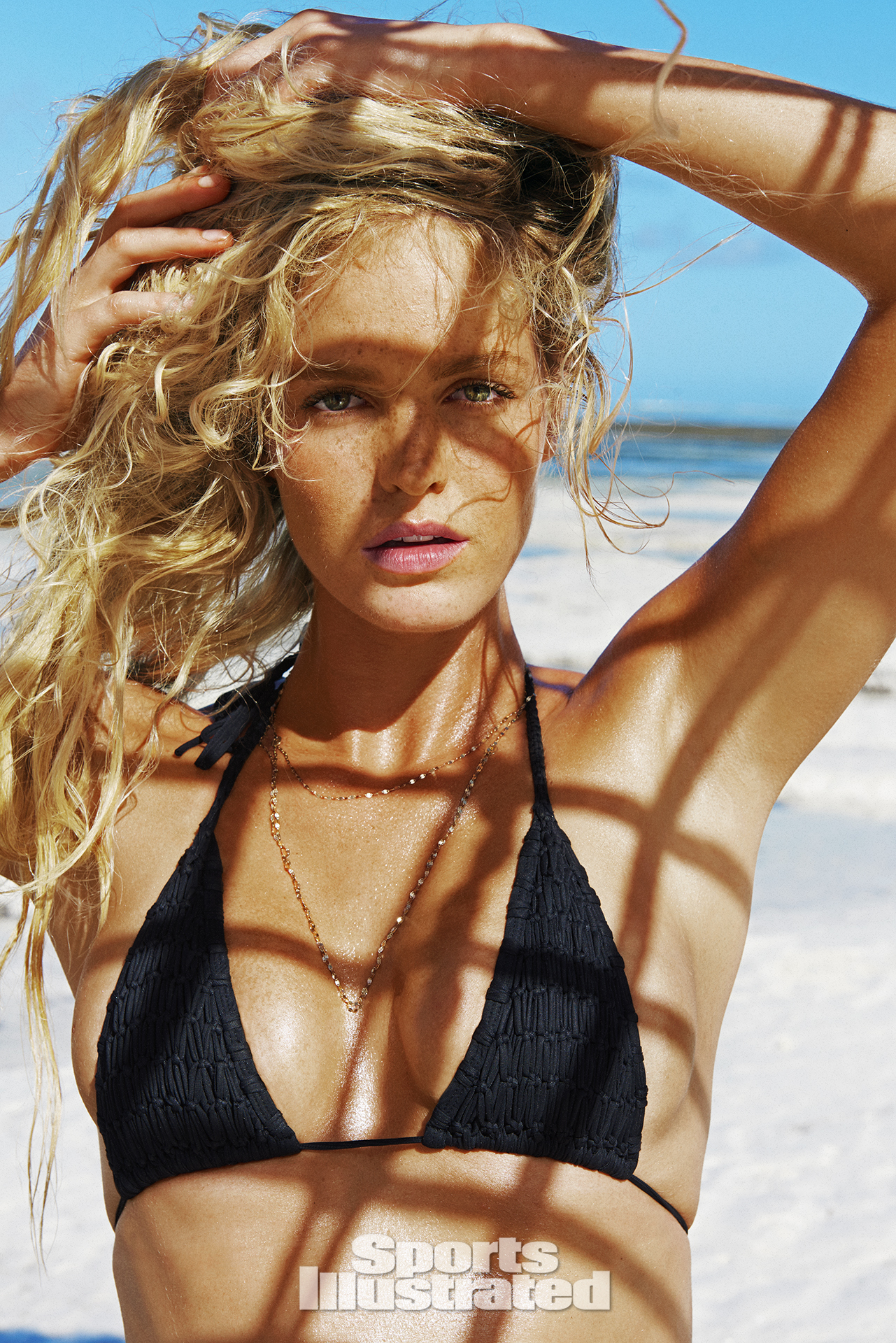 Erin Heatherton was photographed by Ruven Afanador in Zanzibar. Swimsuit by SINESIA KAROL.