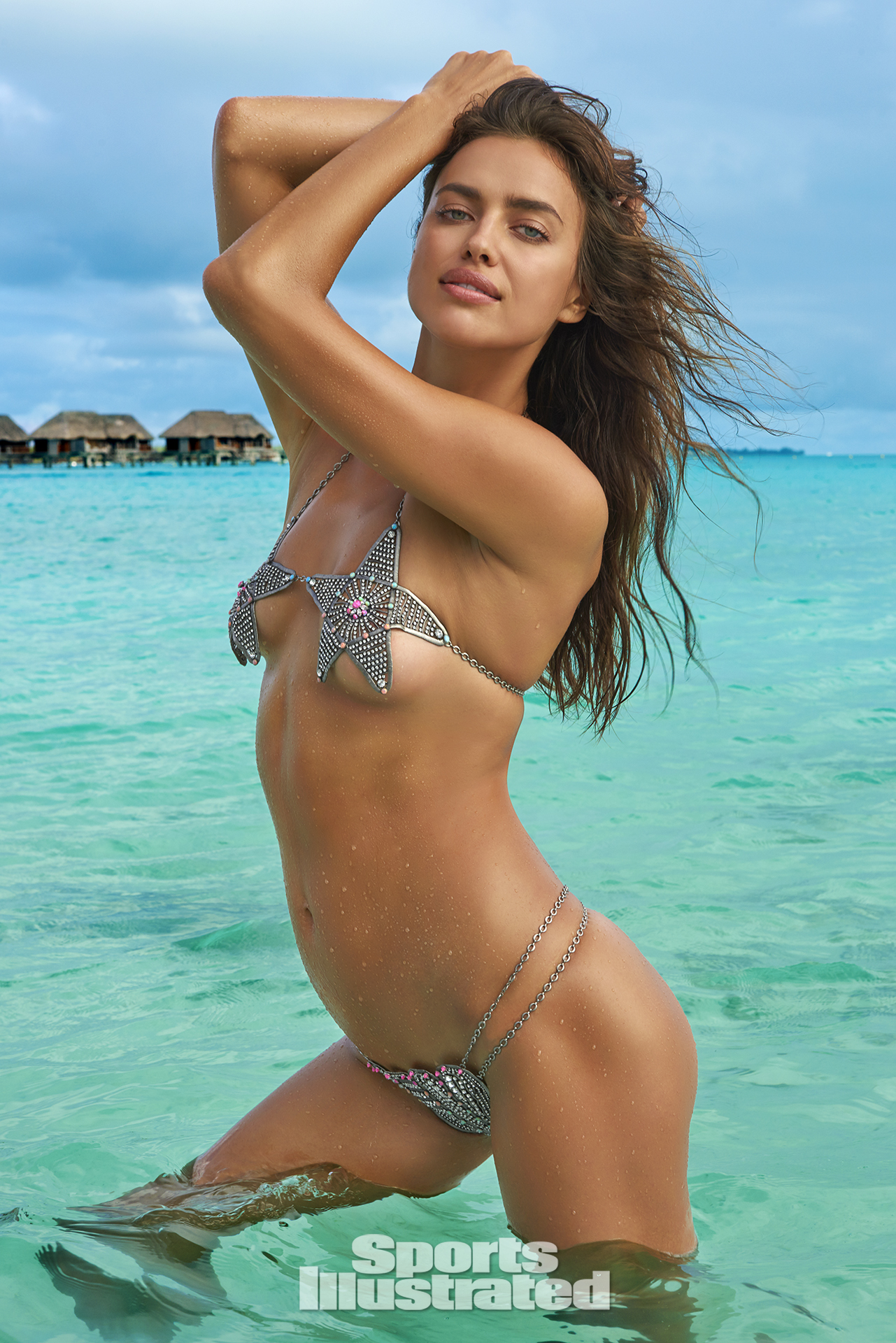 Irina Shayk was photographed by Yu Tsai in The Islands Of Tahiti. Swimsuit by Lionette By Noa Sade.