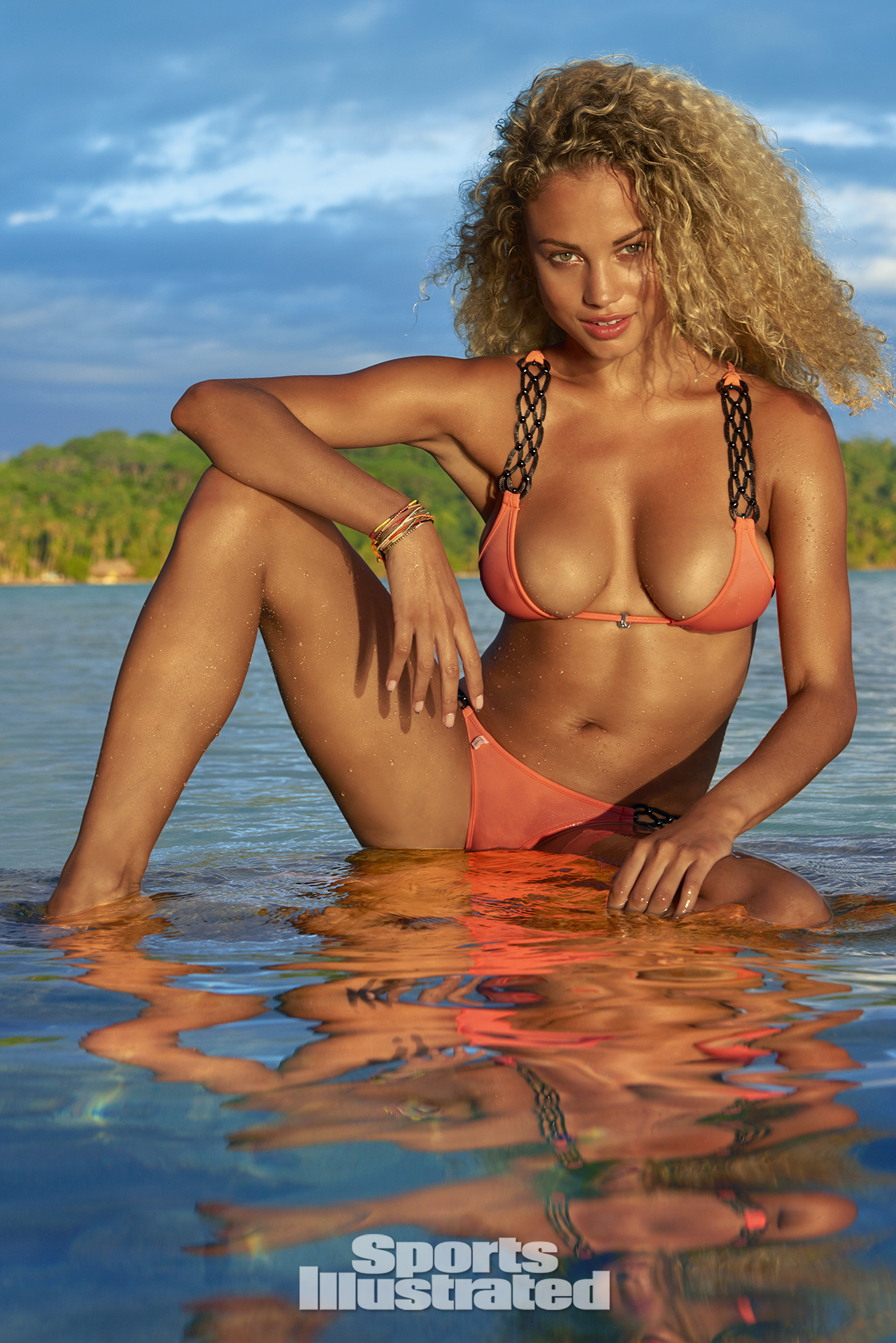 Rose Bertram was photographed by Yu Tsai in The Islands Of Tahiti. Swimsuit by TeenyB Bikini Couture.