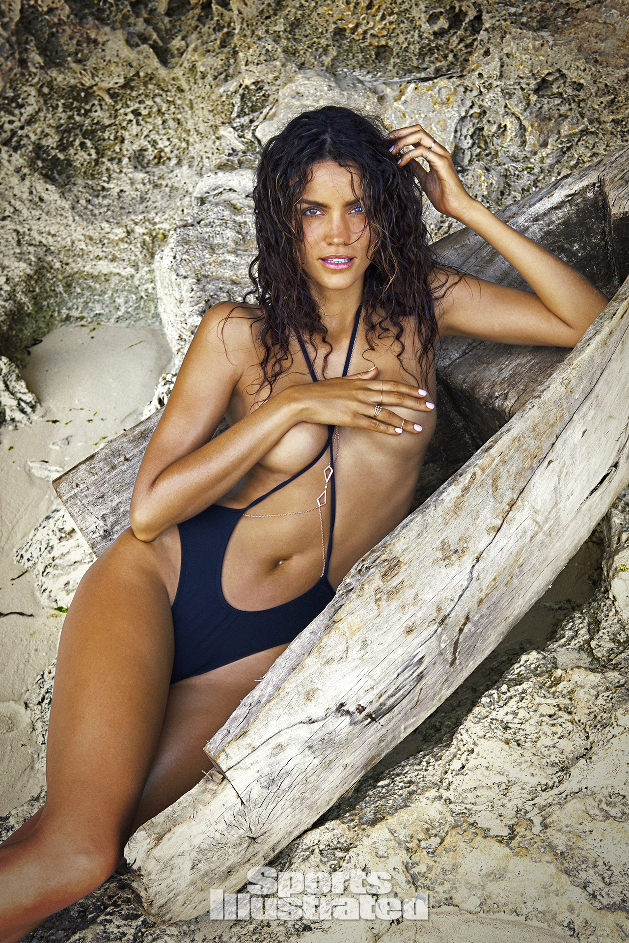 Sofia Resing was photographed by Ruven Afanador in Zanzibar. Swimsuit by Minimale Animale.