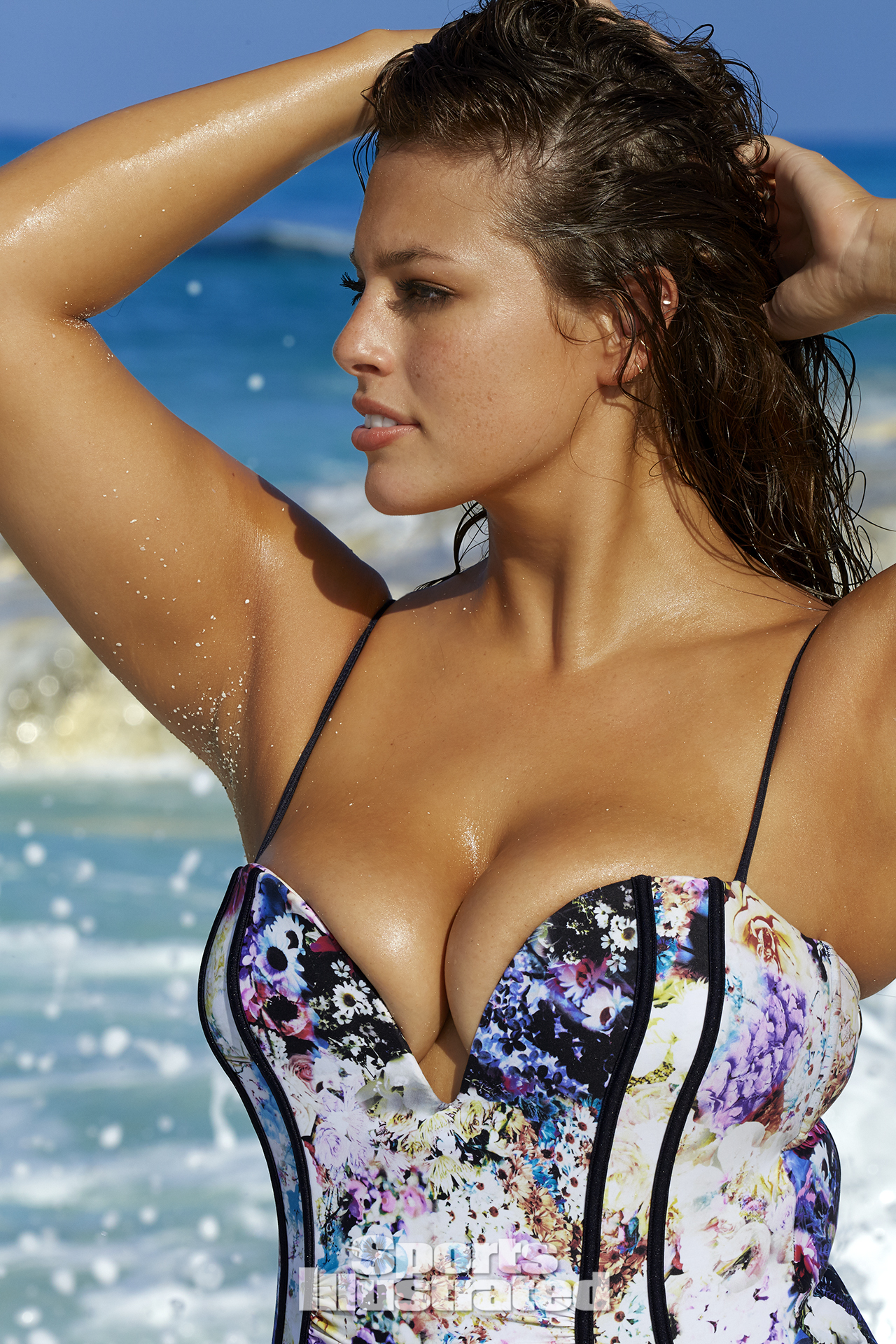 Ashley Graham was photographed by James Macari in Turks & Caicos. Swimsuit by Robyn Lawley.