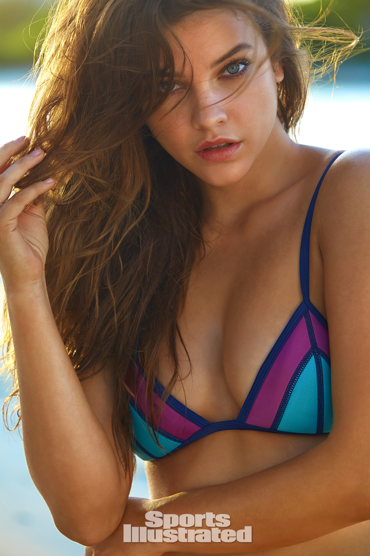 Barbara Palvin was photographed by James Macari in Turks & Caicos. Swimsuit by Duskii.