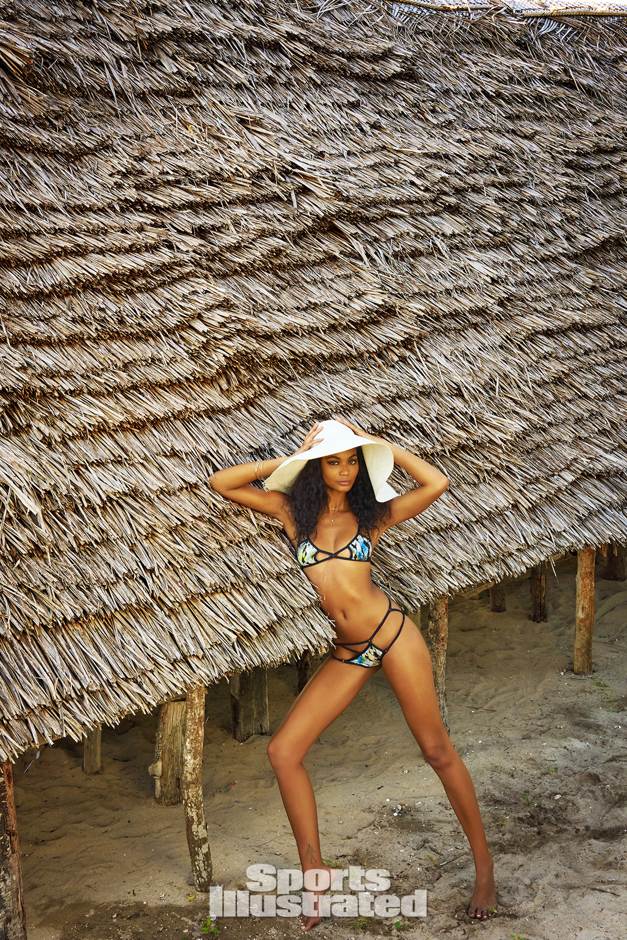 Chanel Iman was photographed by Ruven Afanador in Zanzibar. Swimsuit by Indie Soul.