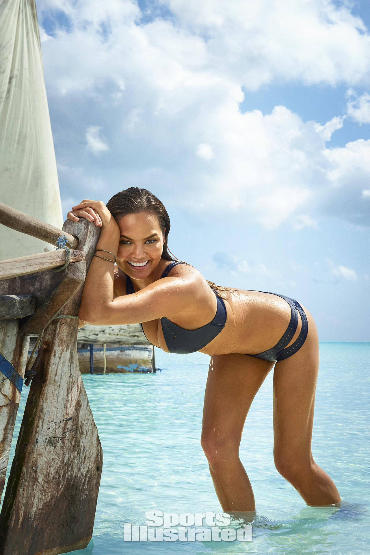 Chrissy Teigen was photographed by Ruven Afanador in Zanzibar. Swimsuit by INDAH.