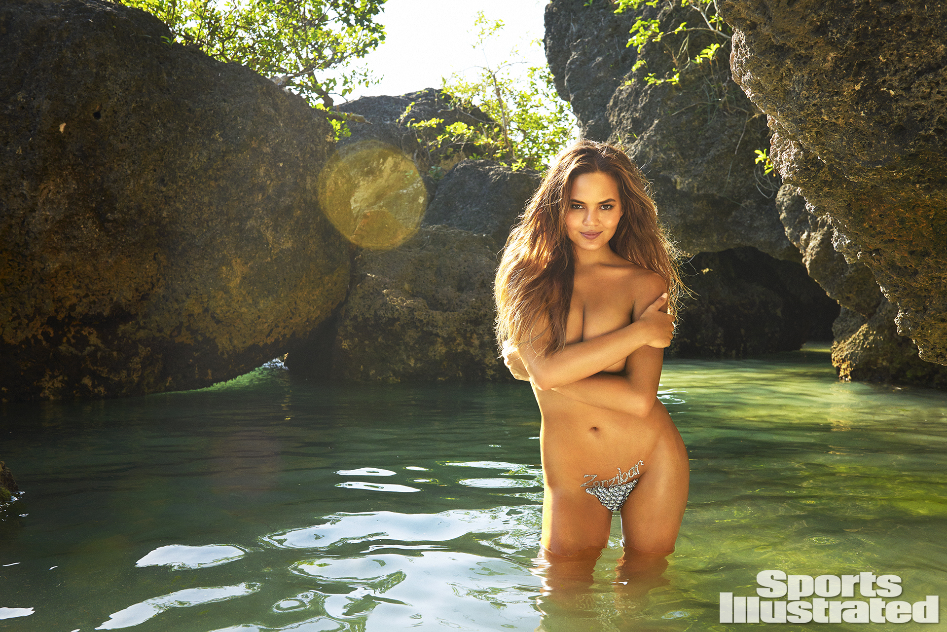 Chrissy Teigen was photographed by Ruven Afanador in Zanzibar. Body Art by Joanne Gair.