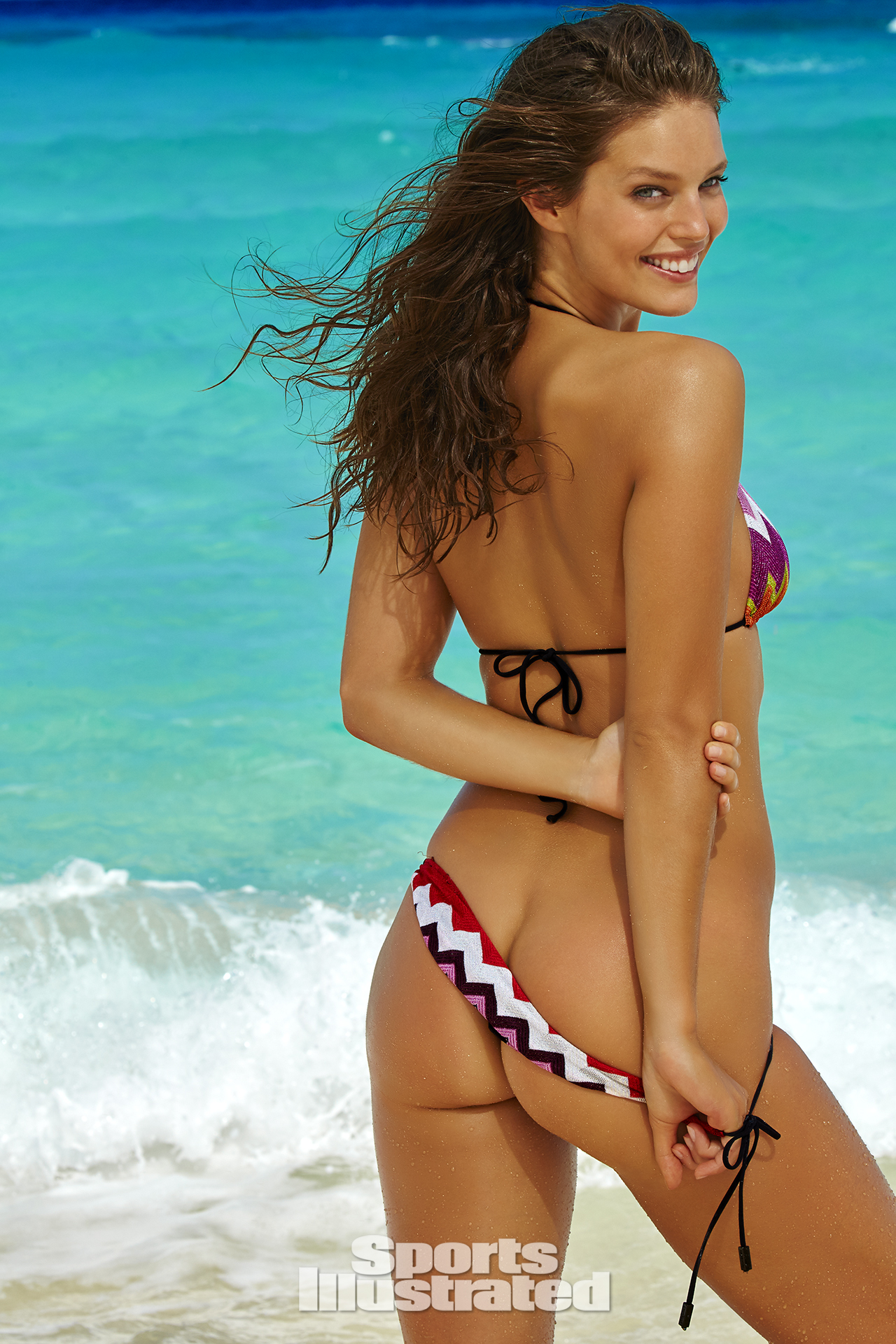 Emily DiDonato was photographed by James Macari in Turks & Caicos. Swimsuit by Missoni.