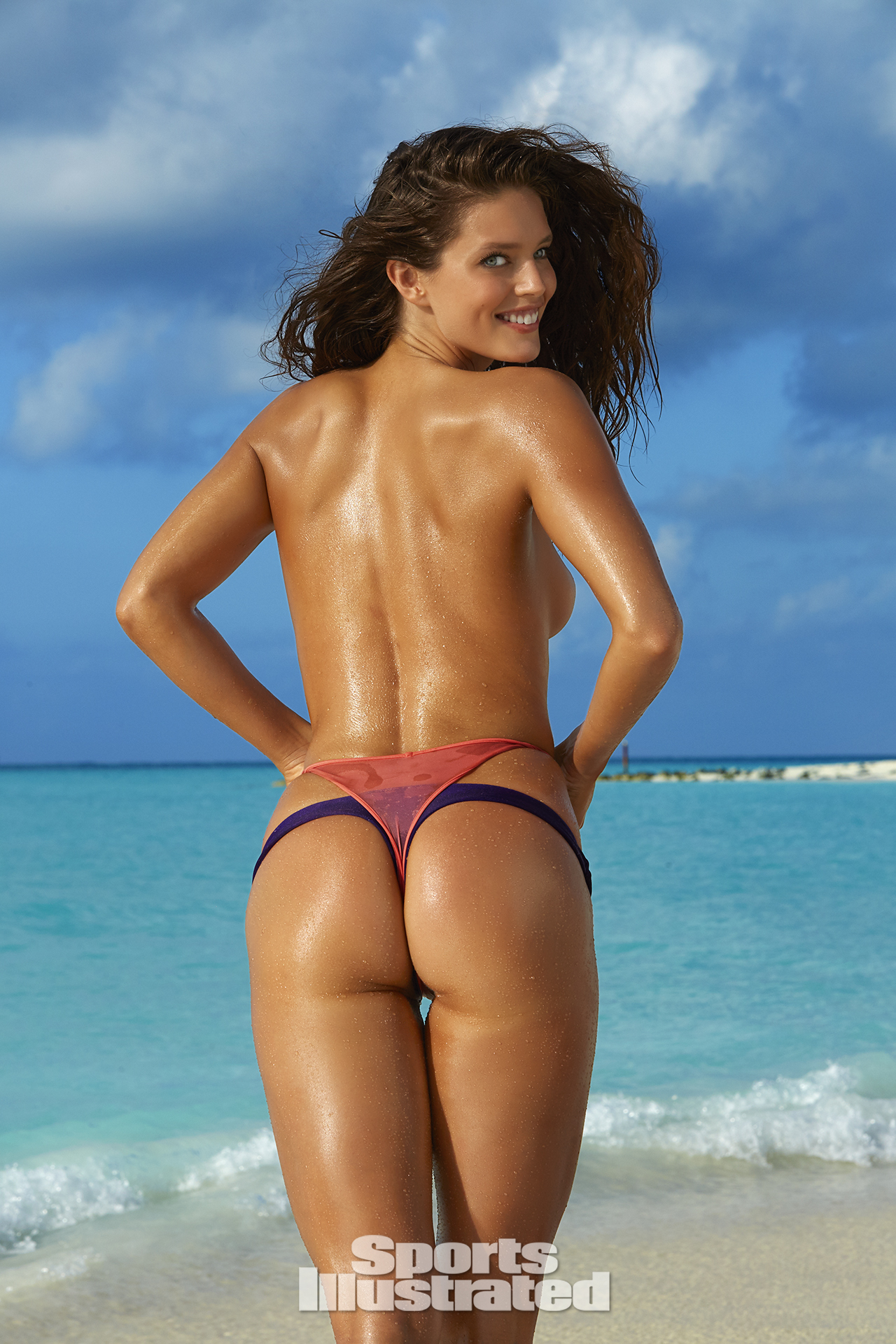 Emily DiDonato was photographed by James Macari in Turks & Caicos. Swimsuits by TeenyB Bikini Couture and Ola Vida.