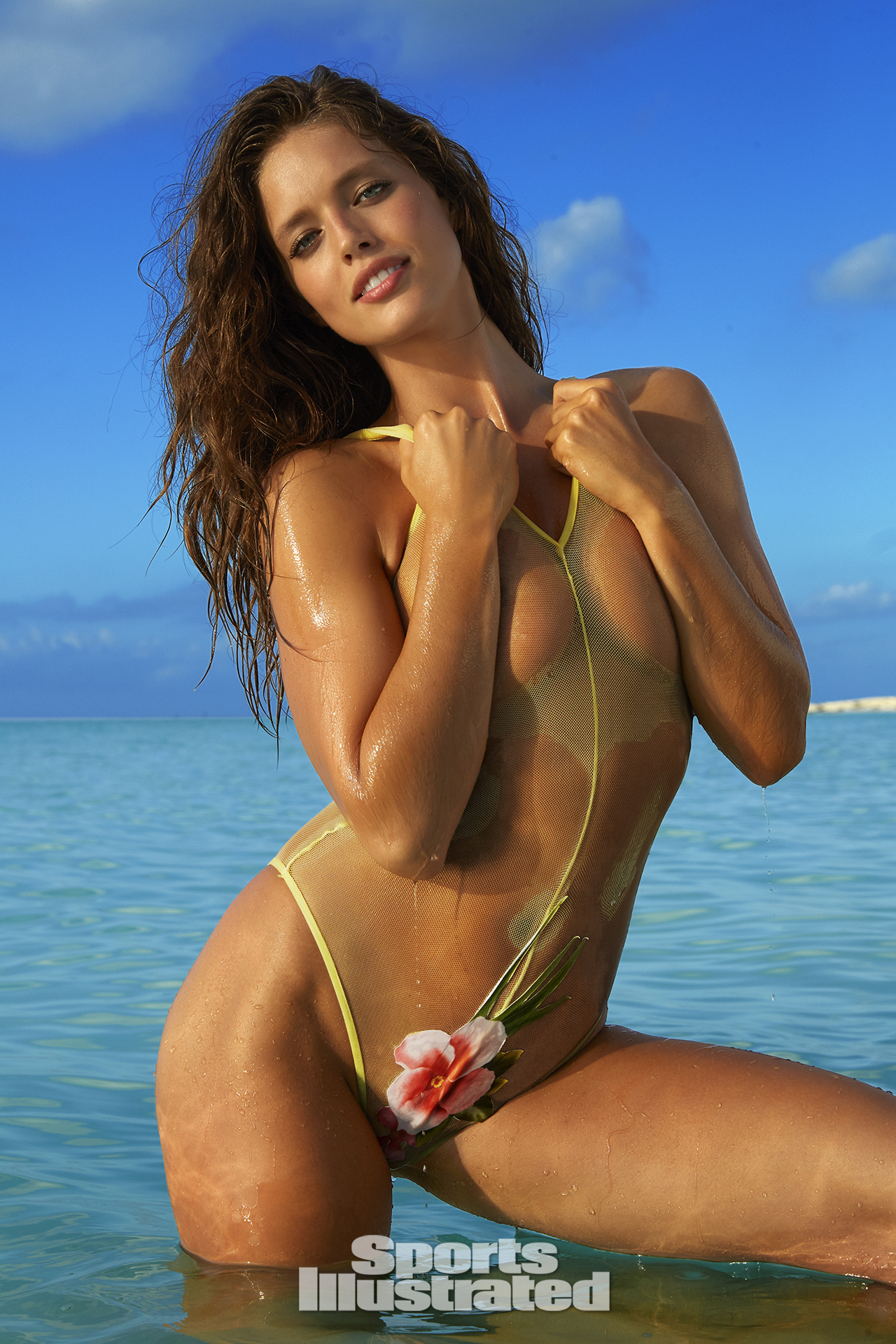 Emily DiDonato was photographed by James Macari in Turks & Caicos. Swimsuit by Soriya Swim.