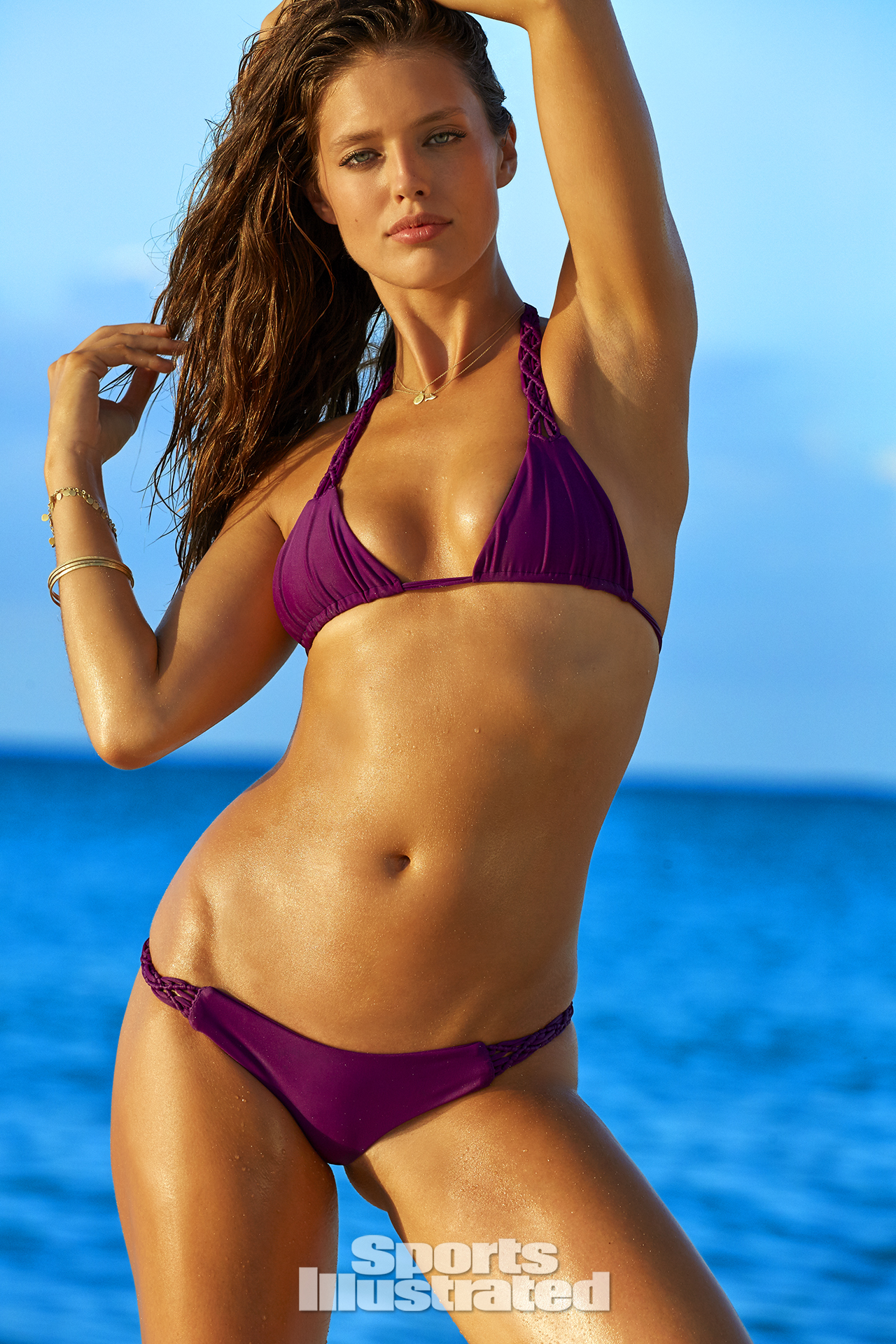 Emily DiDonato was photographed by James Macari in Turks & Caicos. Swimsuit by MIKOH.