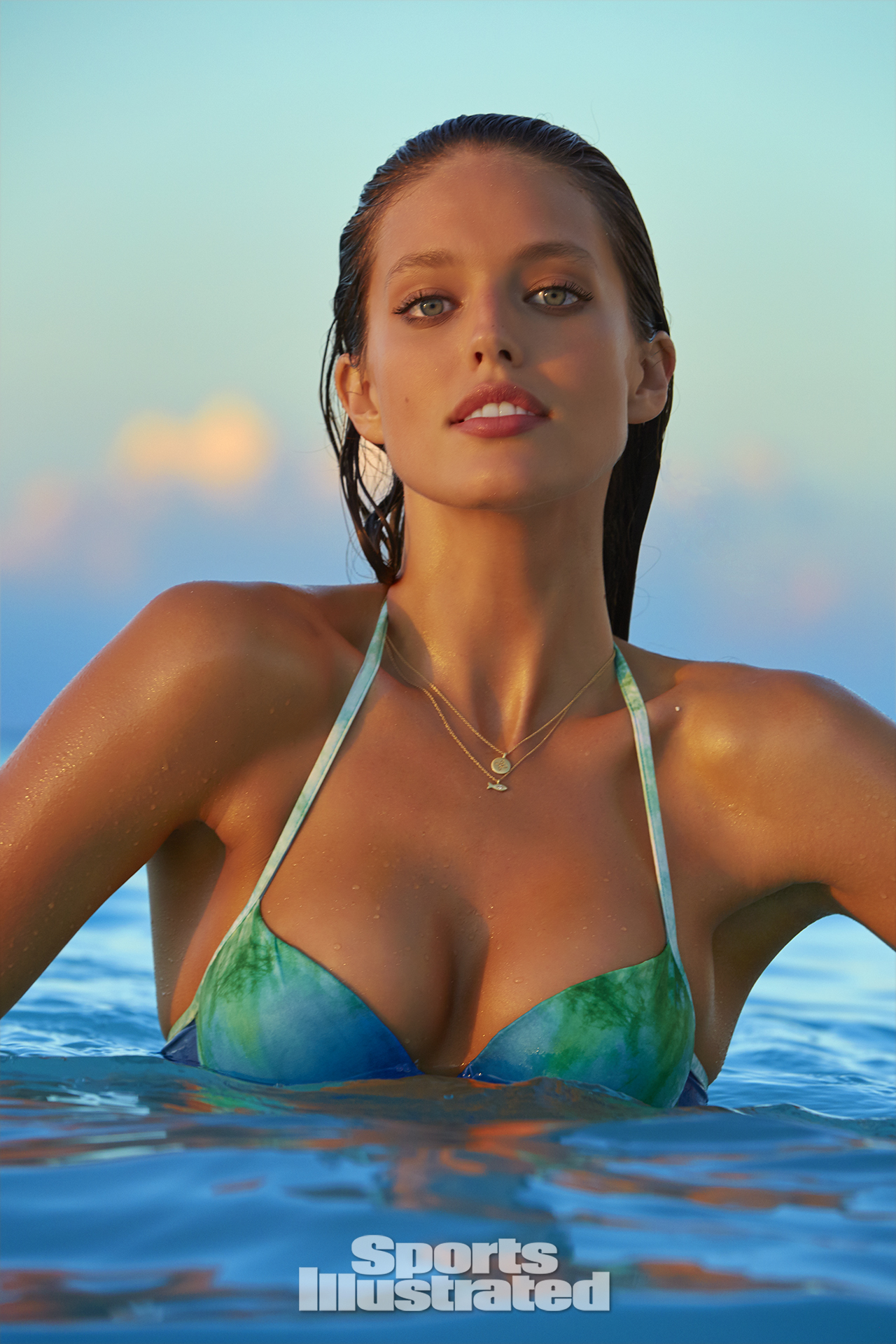 Emily DiDonato was photographed by James Macari in Turks & Caicos. Swimsuit by Dolcessa Swimwear.