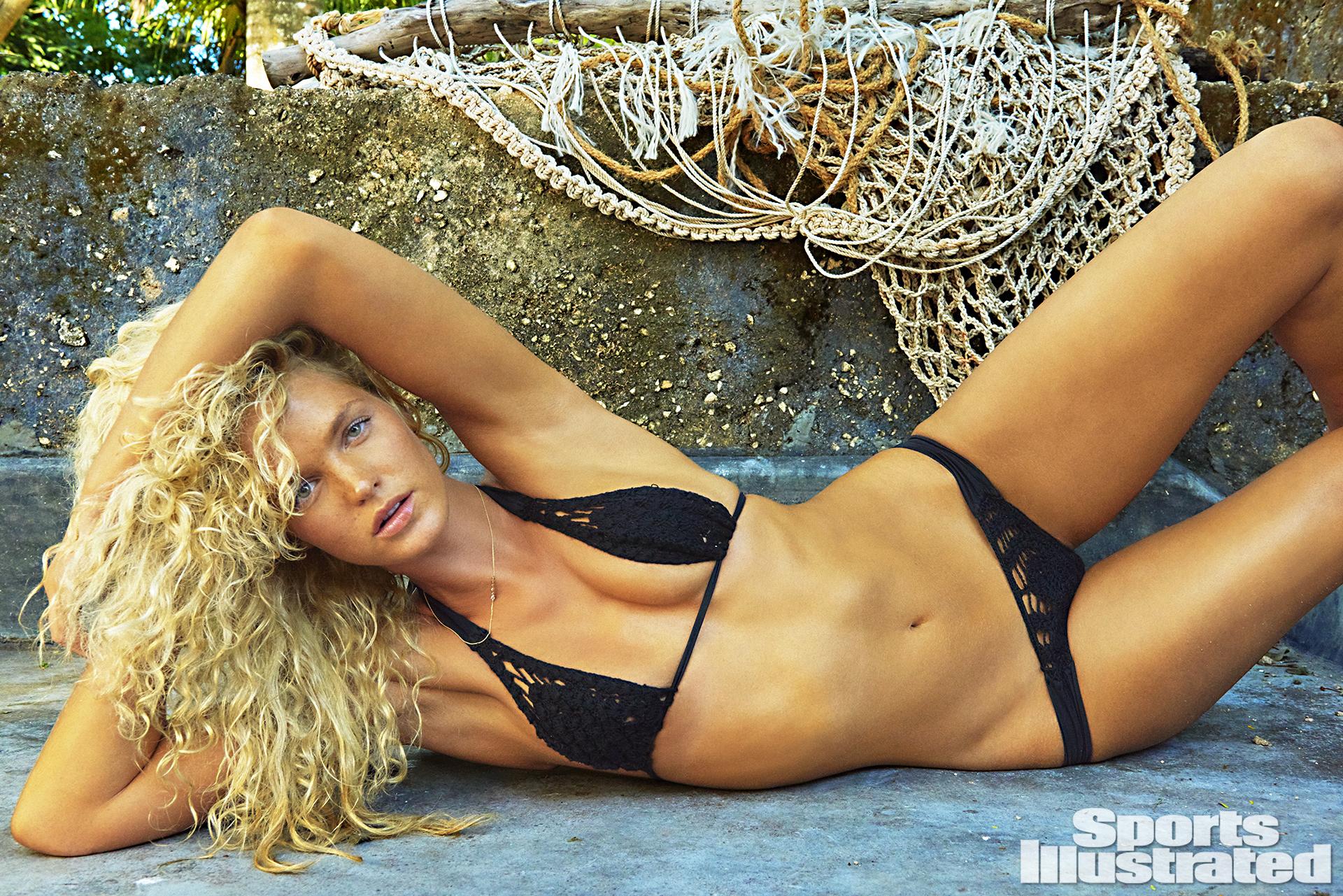 Erin Heatherton was photographed by Ruven Afanador in Zanzibar. Swimsuit by INDAH.