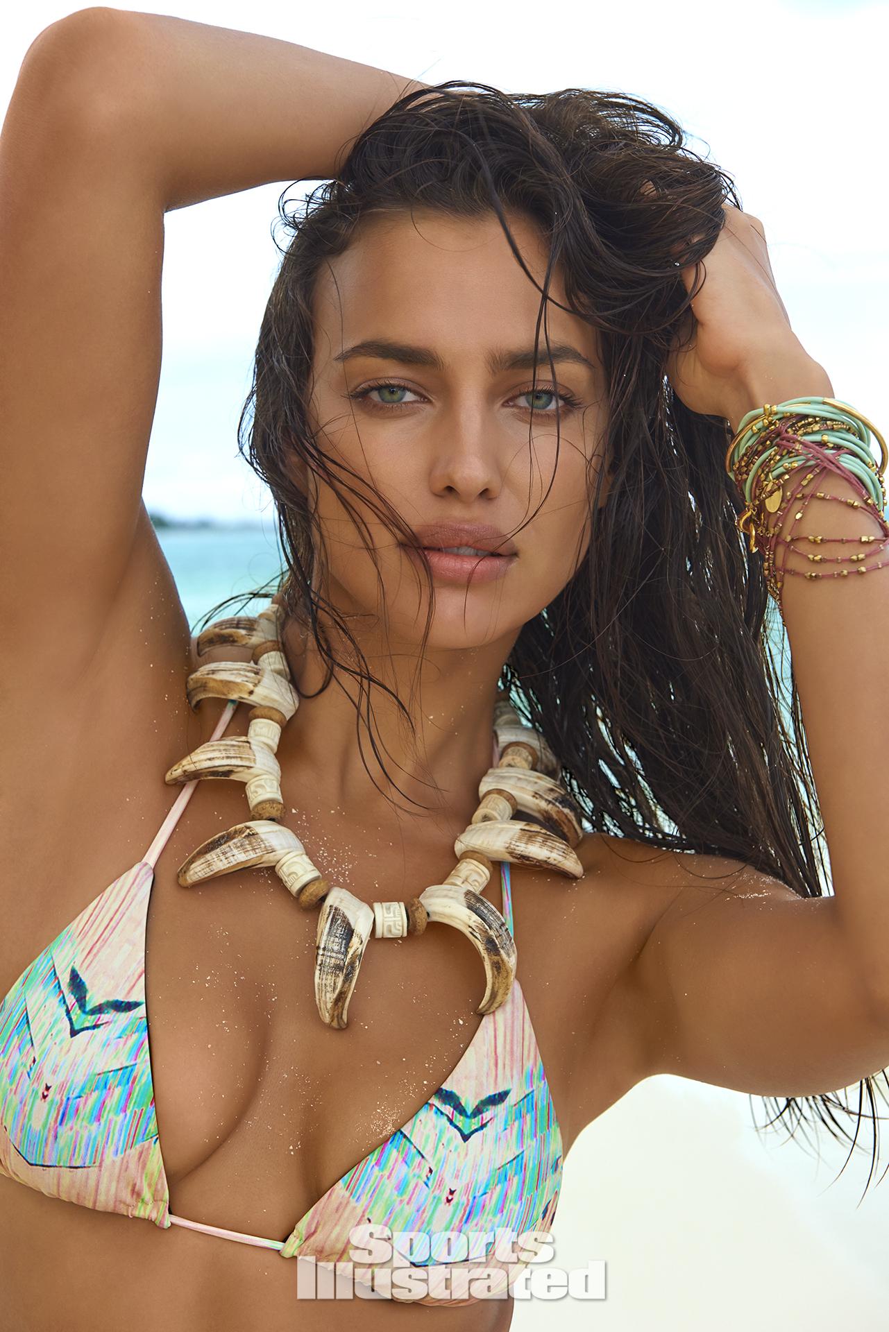 Irina Shayk was photographed by Yu Tsai in The Islands Of Tahiti. Swimsuit by TAVIK.