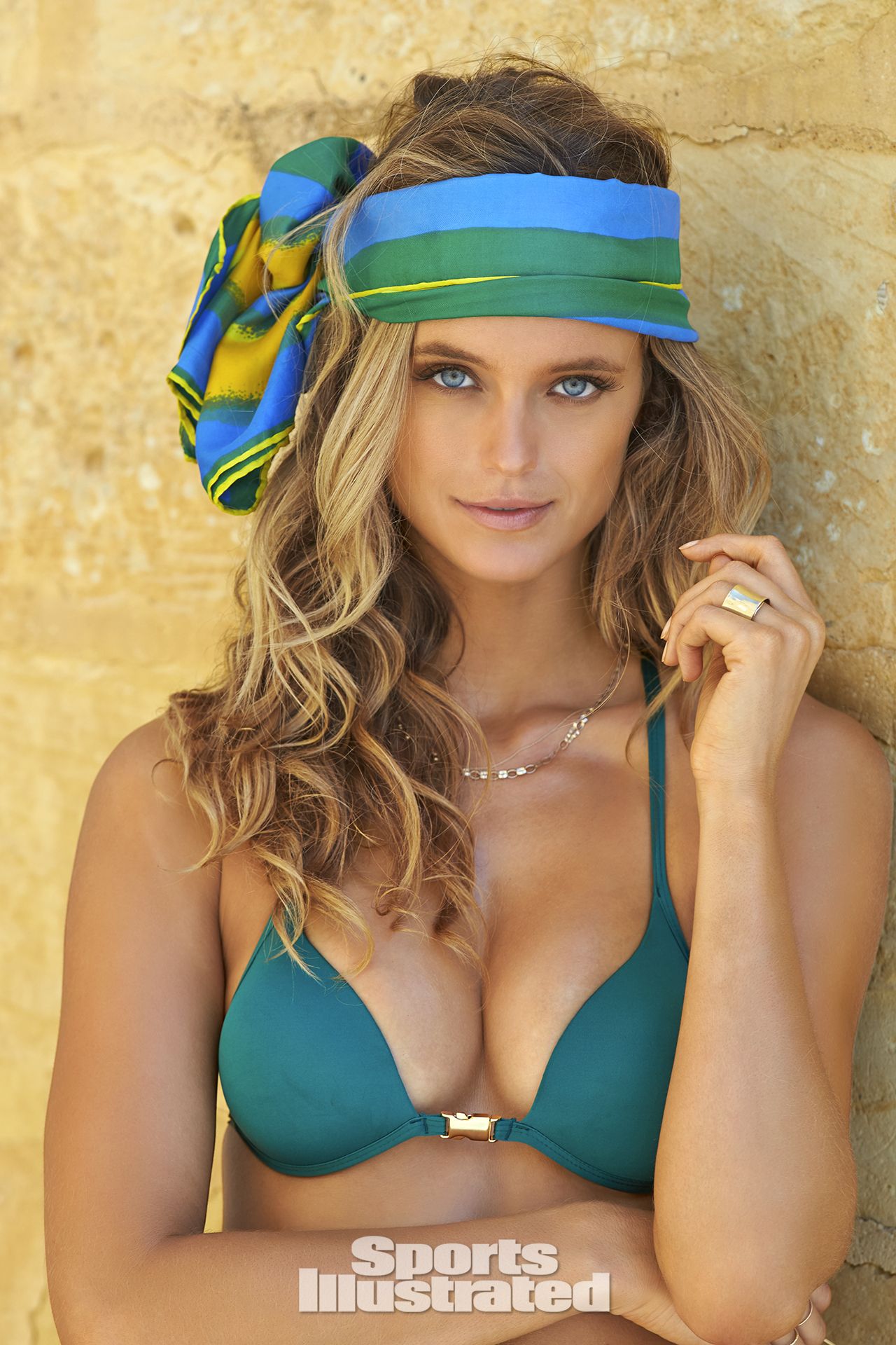 Kate Bock was photographed by Ben Watts in Malta. Swimsuit by Dicker Swimwear.