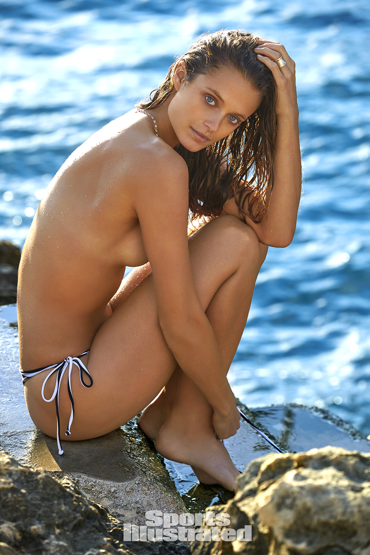 Kate Bock was photographed by Ben Watts in Malta. Swimsuit by MIKOH.