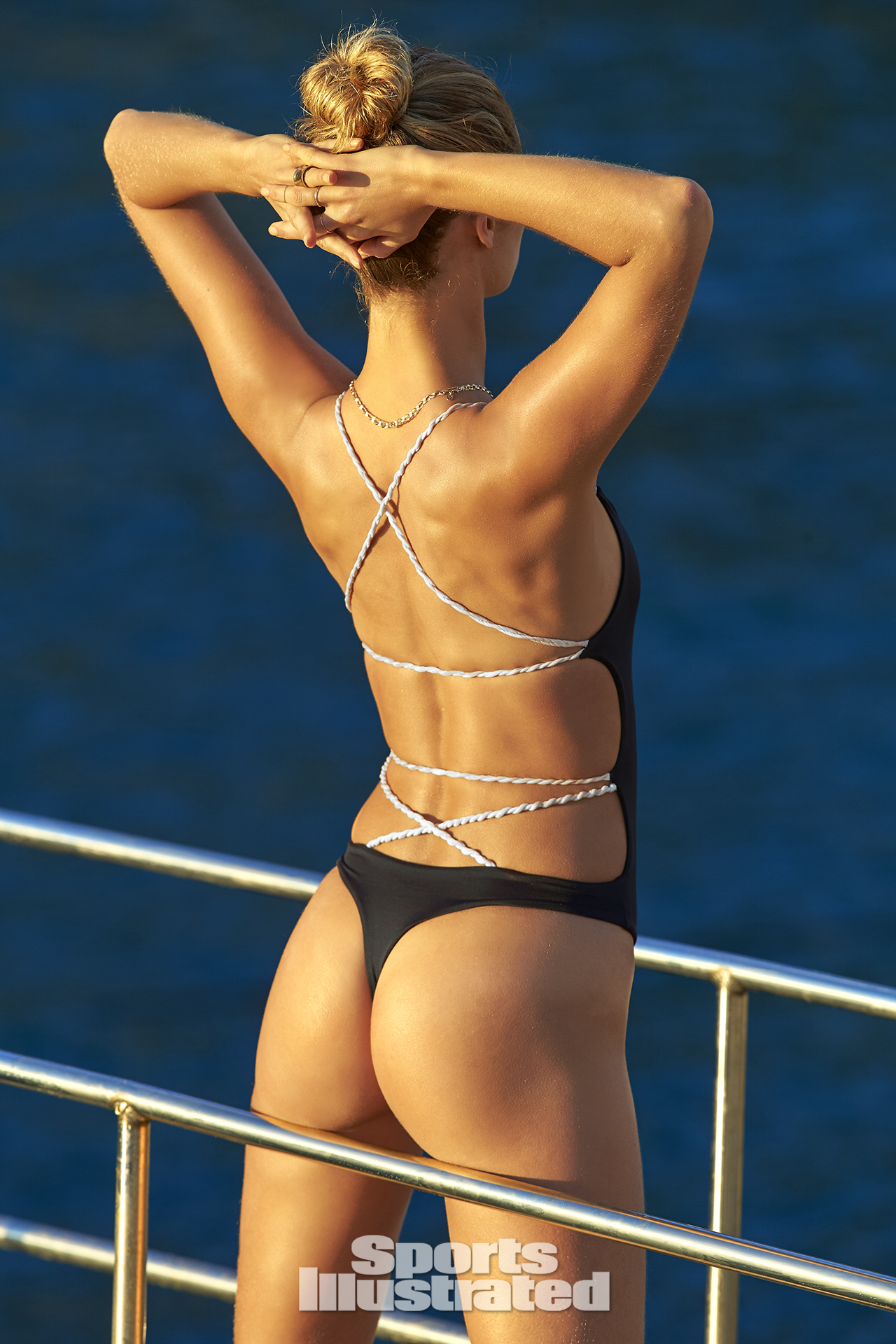 Kate Bock was photographed by Ben Watts in Malta. Swimsuit by AYRA SWIMWEAR.