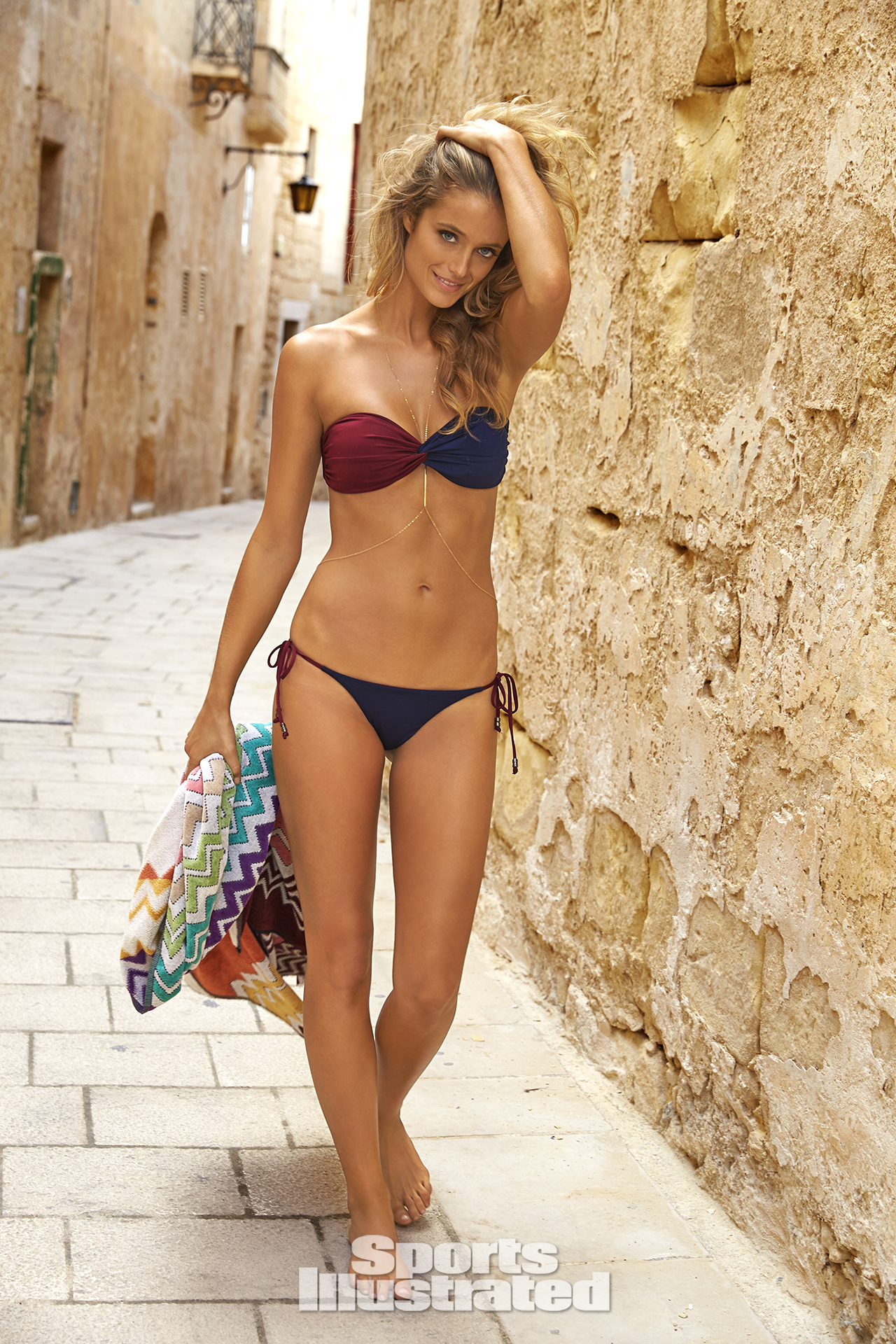 Kate Bock was photographed by Ben Watts in Malta. Swimsuit by Bec & Bridge.