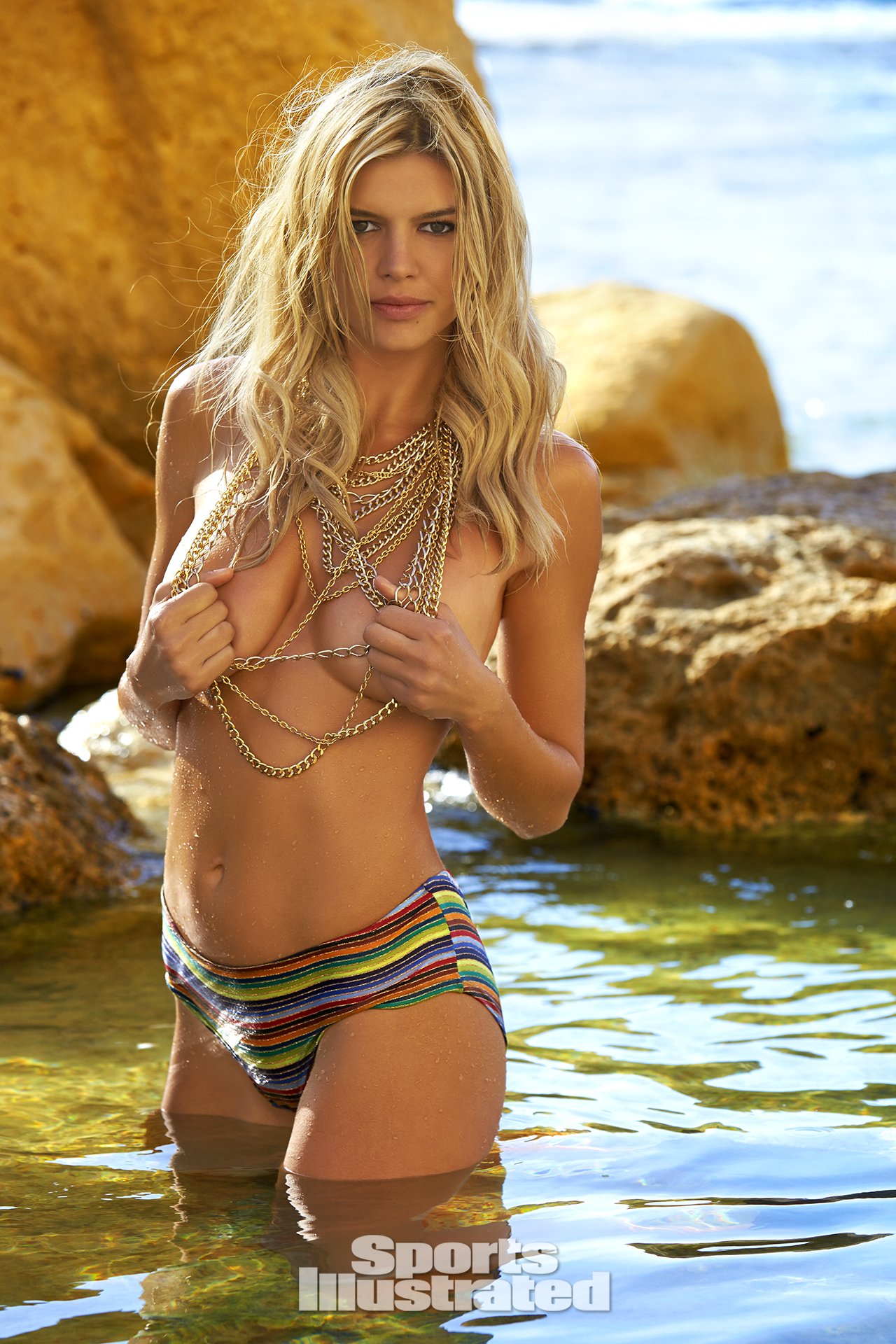 Kelly Rohrbach was photographed by Ben Watts in Malta. Swimsuit by Only Hearts.
