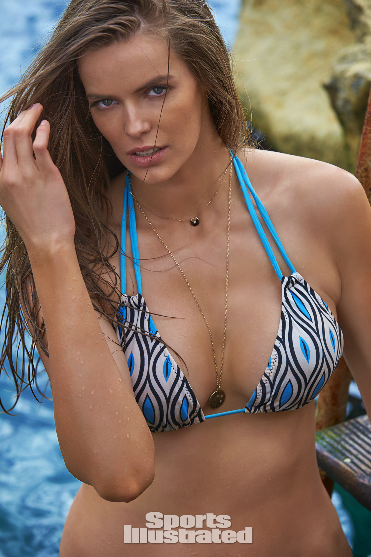 Robyn Lawley was photographed by Ben Watts in Malta. Swimsuit by Iztali Swim.