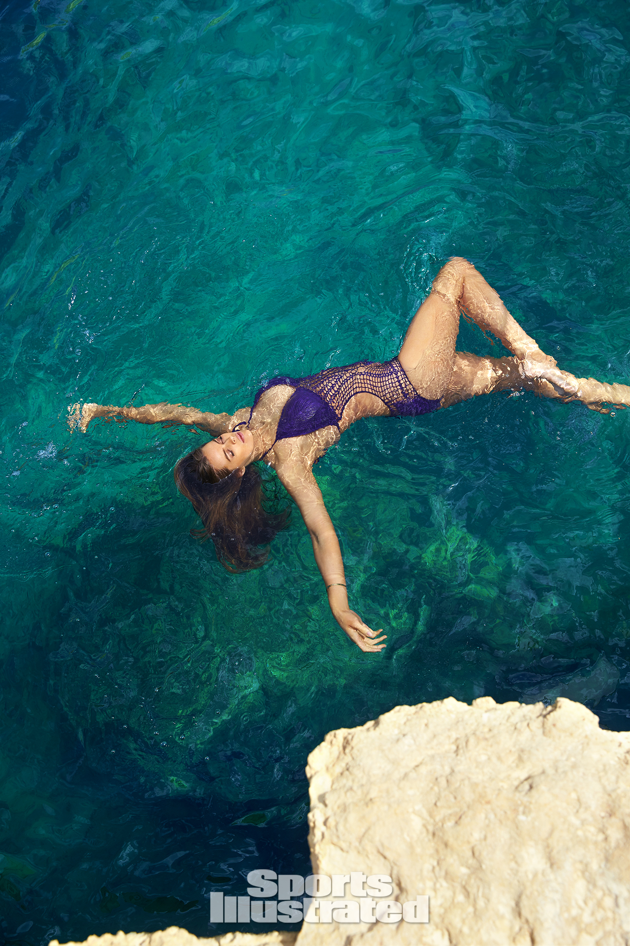 <p>Robyn Lawley was photographed by Ben Watts in Malta. Swimsuit by Beauty & The Beach.</p>