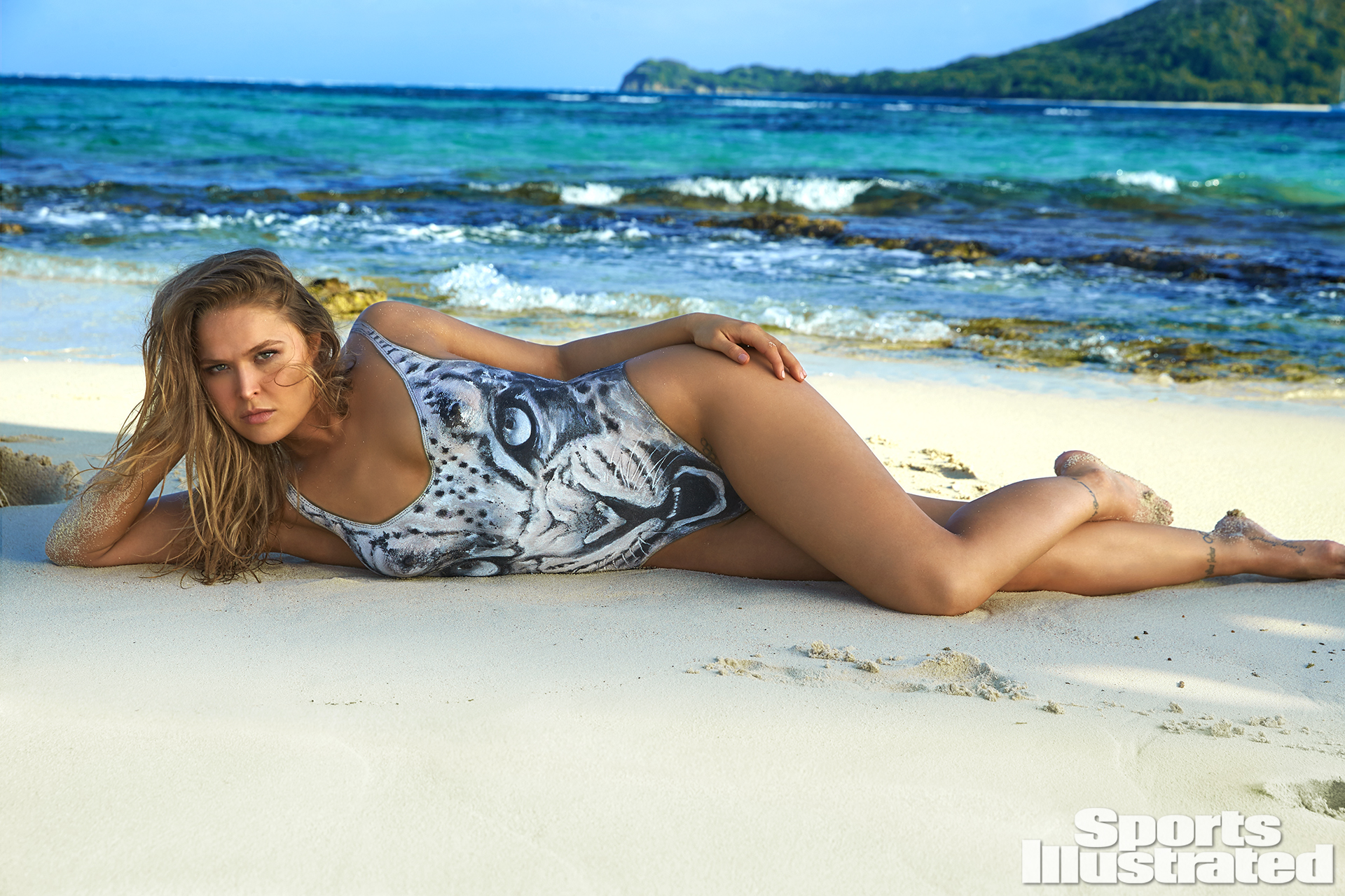 Ronda Rousey Was Photographed By Frederic Pinet In Petit St Vincent Swimsuit Inspired By