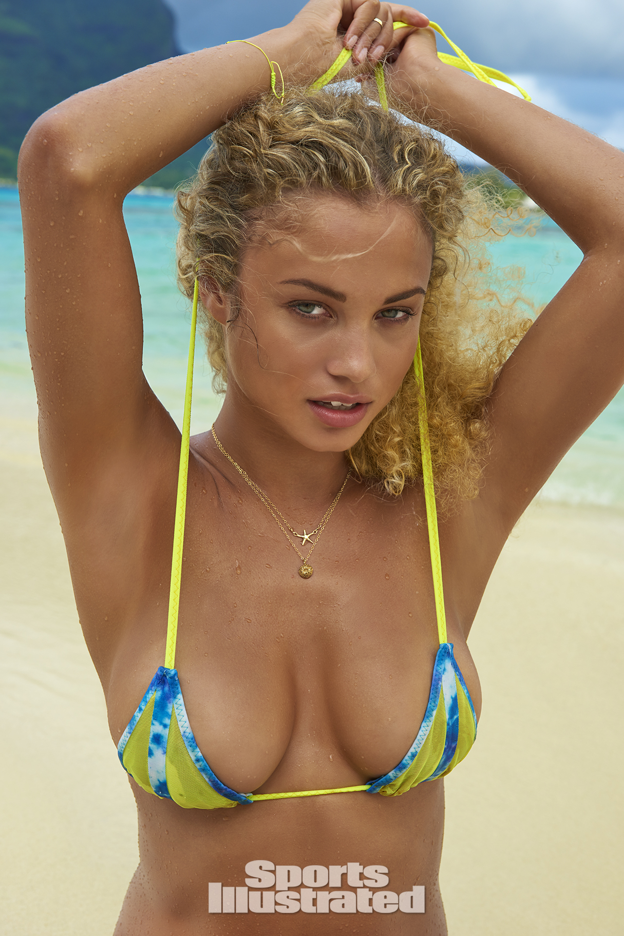 Rose Bertram was photographed by Yu Tsai in The Islands Of Tahiti. Swimsuit by Dolcessa Swimwear.