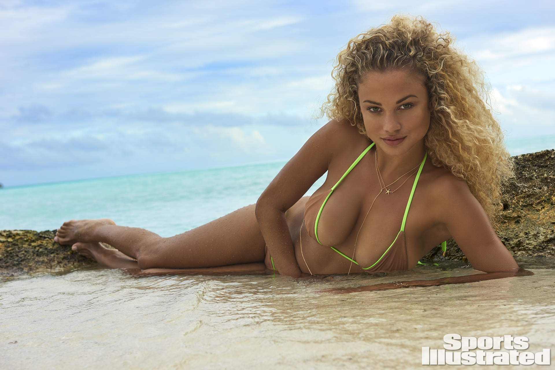 Rose Bertram was photographed by Yu Tsai in The Islands Of Tahiti. Swimsuit by Ola Vida.