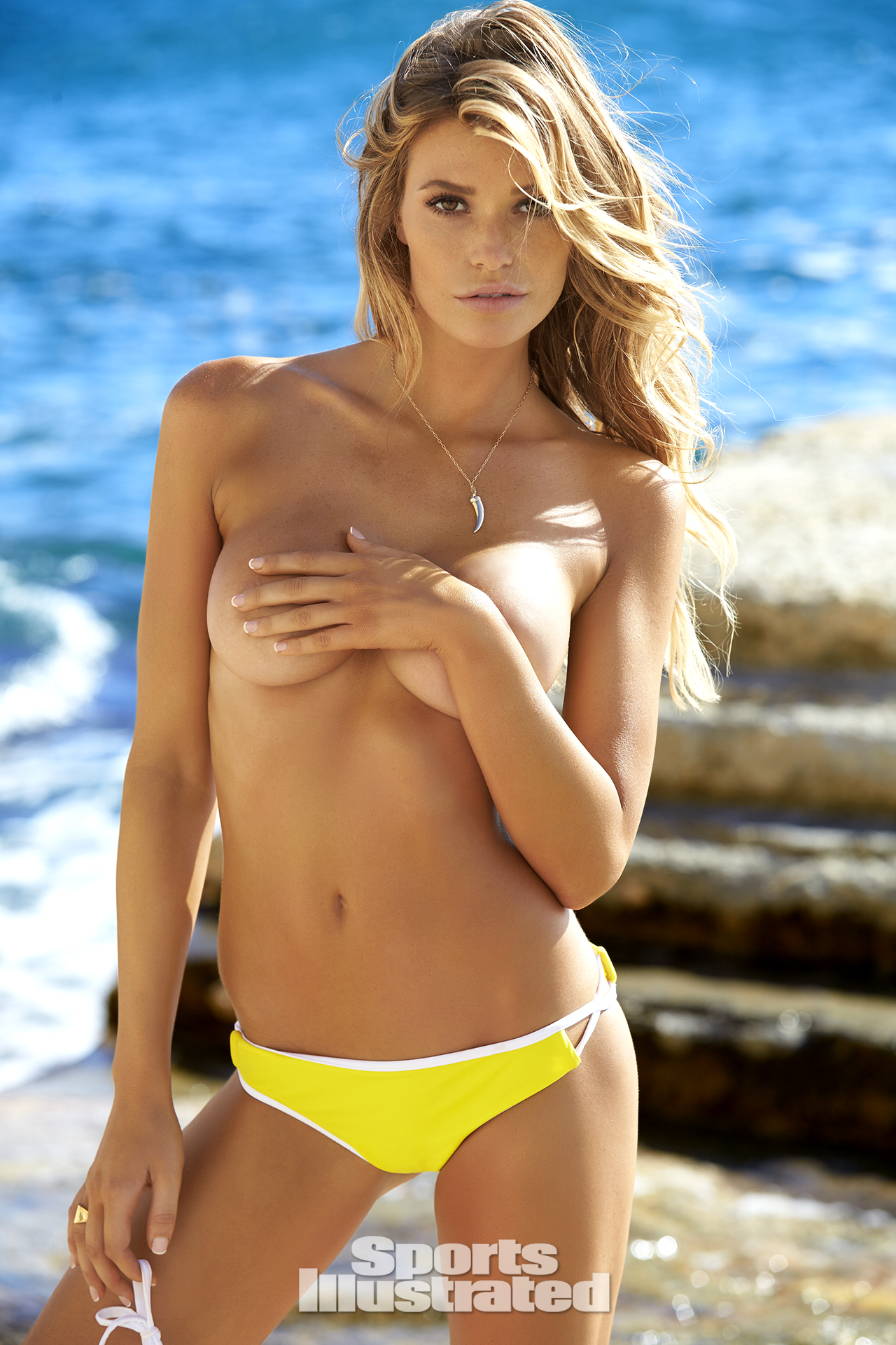 Samantha Hoopes was photographed by Ben Watts in Malta. Swimsuit by ACK