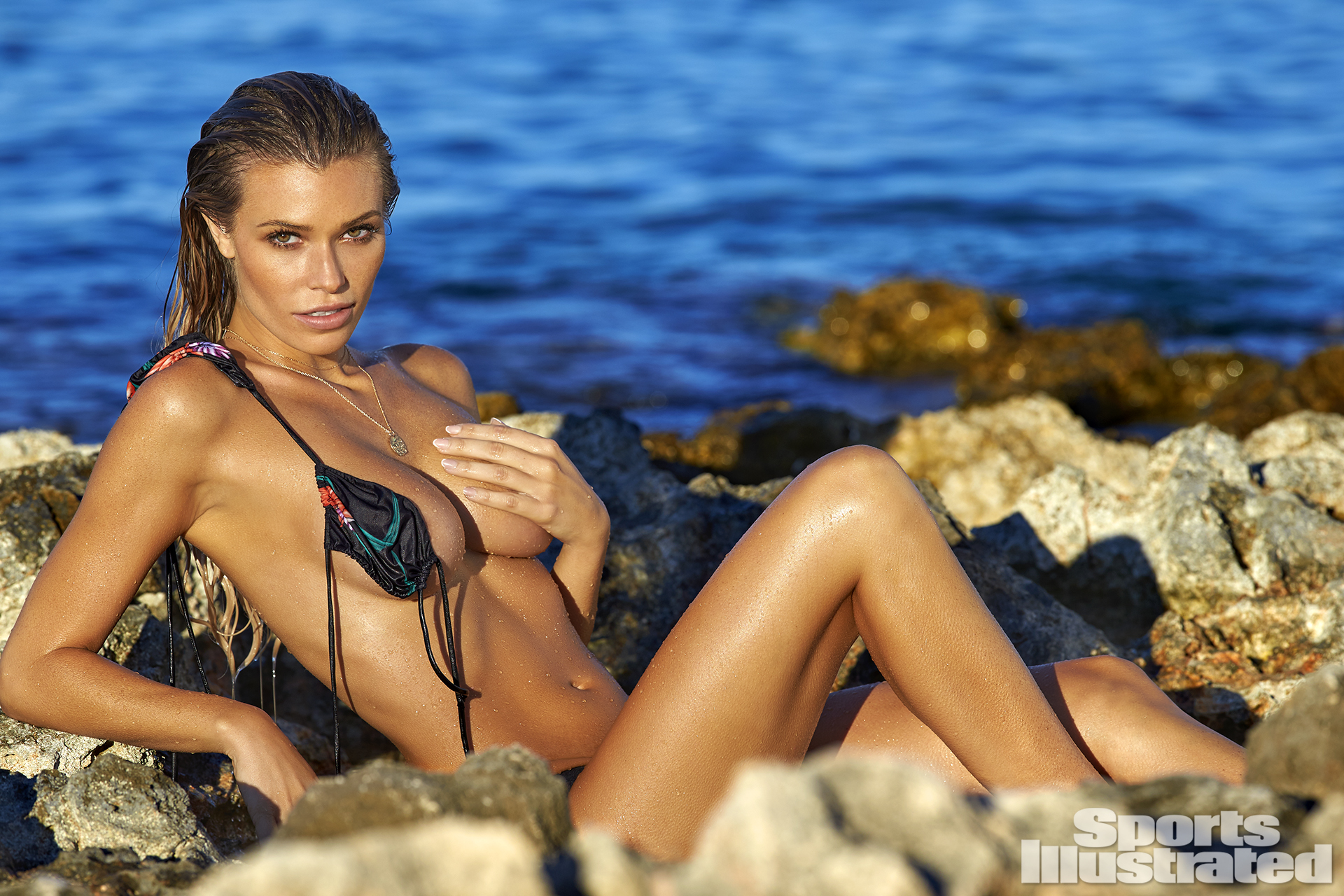 Samantha Hoopes was photographed by Ben Watts in Malta. Swimsuit by INDAH.