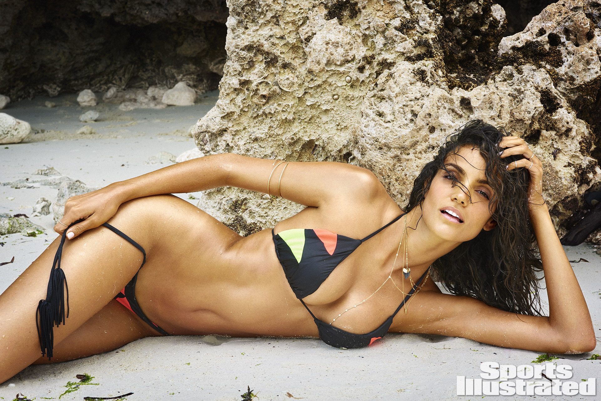 Sofia Resing was photographed by Ruven Afanador in Zanzibar. Swimsuit by MARTHA REY.