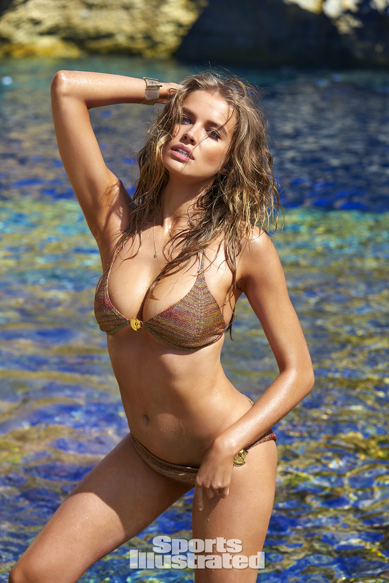Tanya Mityushina was photographed by Ben Watts in Malta. Swimsuit by Elizabeth Kosich New York.