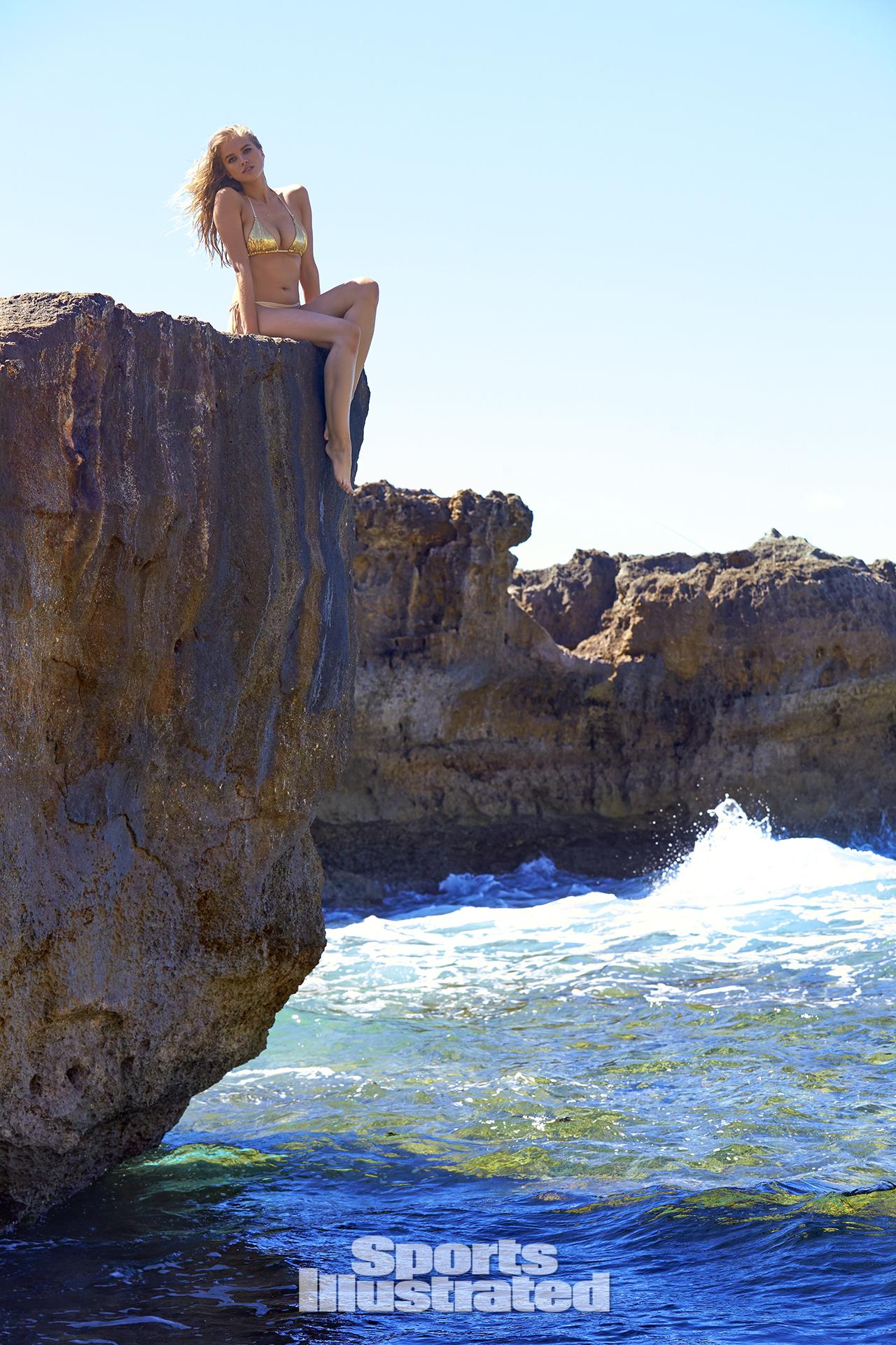 Tanya Mityushina was photographed by Ben Watts in Malta. Swimsuit by LILIANA MONTOYA Swim.