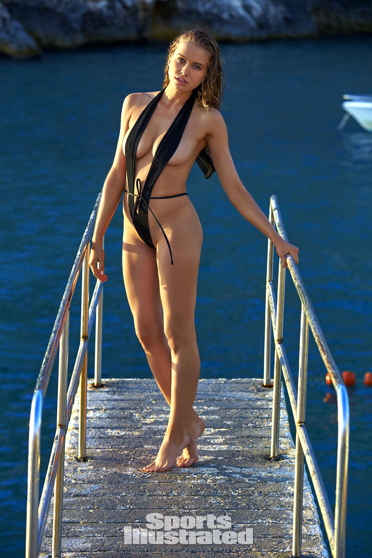 Tanya Mityushina was photographed by Ben Watts in Malta. Swimsuit by GABRIELA PIRES BEACHWEAR.