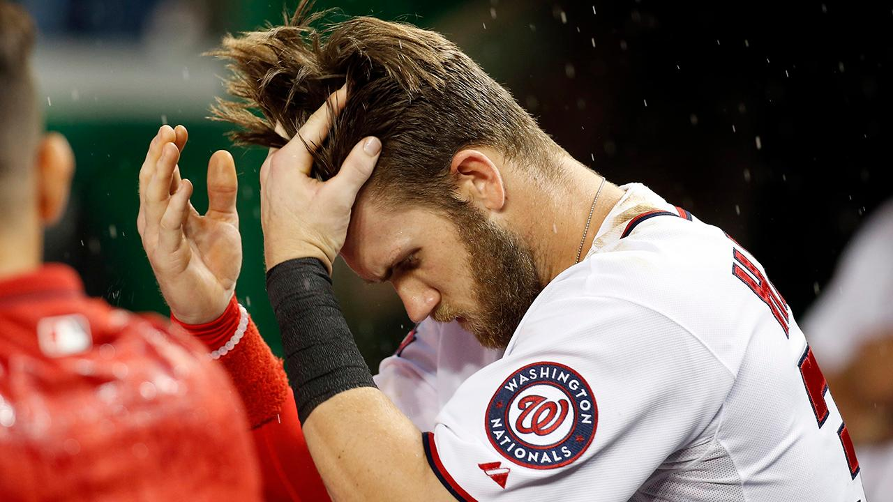 Video Bryce Harper Gives Haircuts To The Little Nationals Si