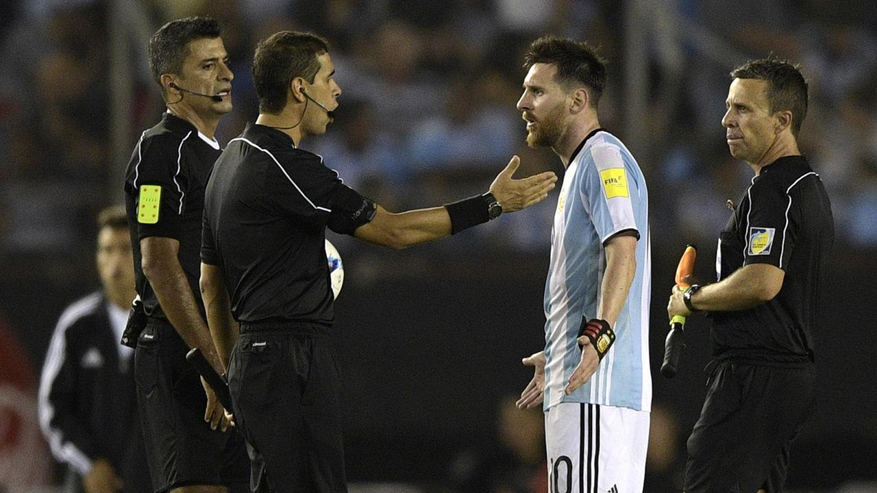 Lionel Messi banned four Argentina matches for verbally abusing referee