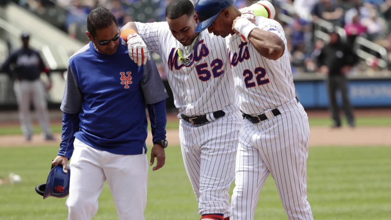 Mets OF Yoenis Cespedes leaves game with hamstring injury