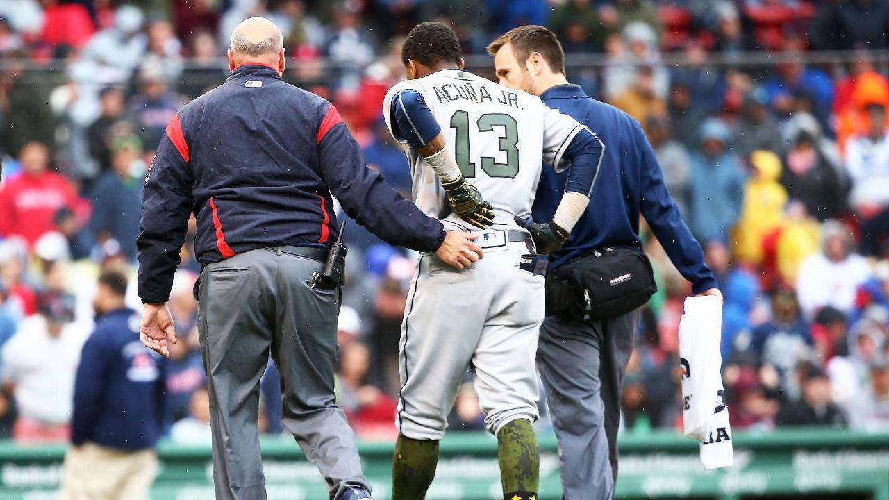 Braves Rookie Ronald Acuña, Jr. Leaves Game With Leg, Back Injuries