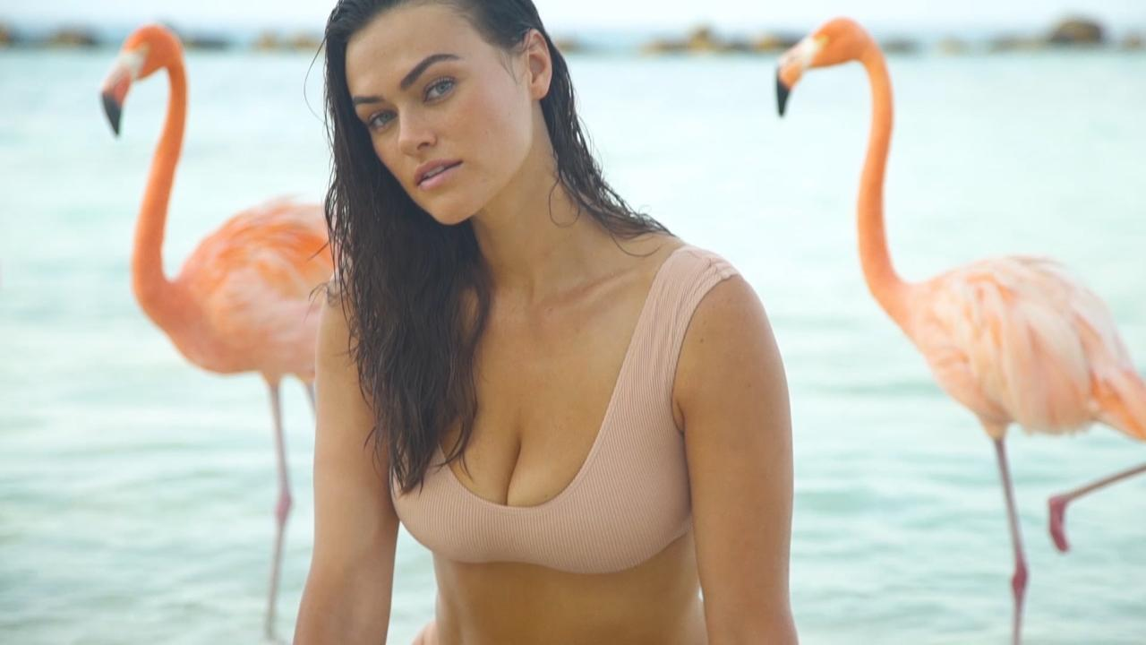 Myla Dalbesio Poses With Flamigos in This New Video