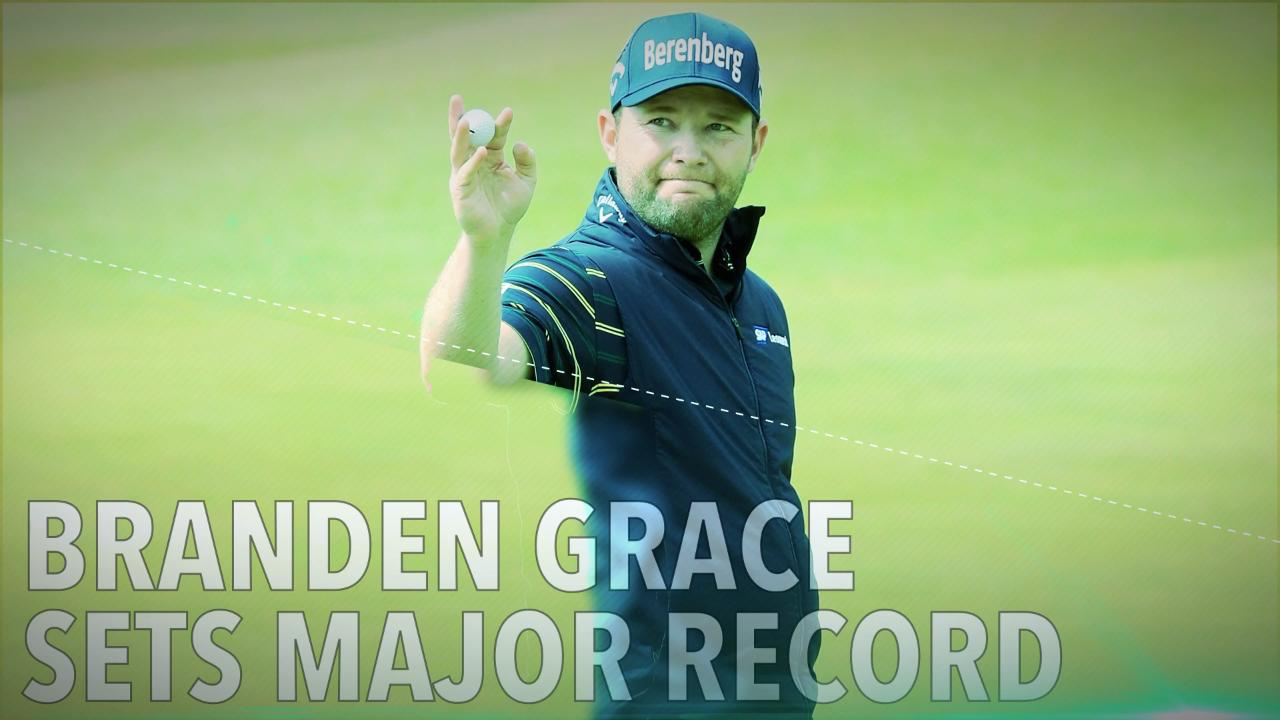 branden grace sets major record with 62 at british open