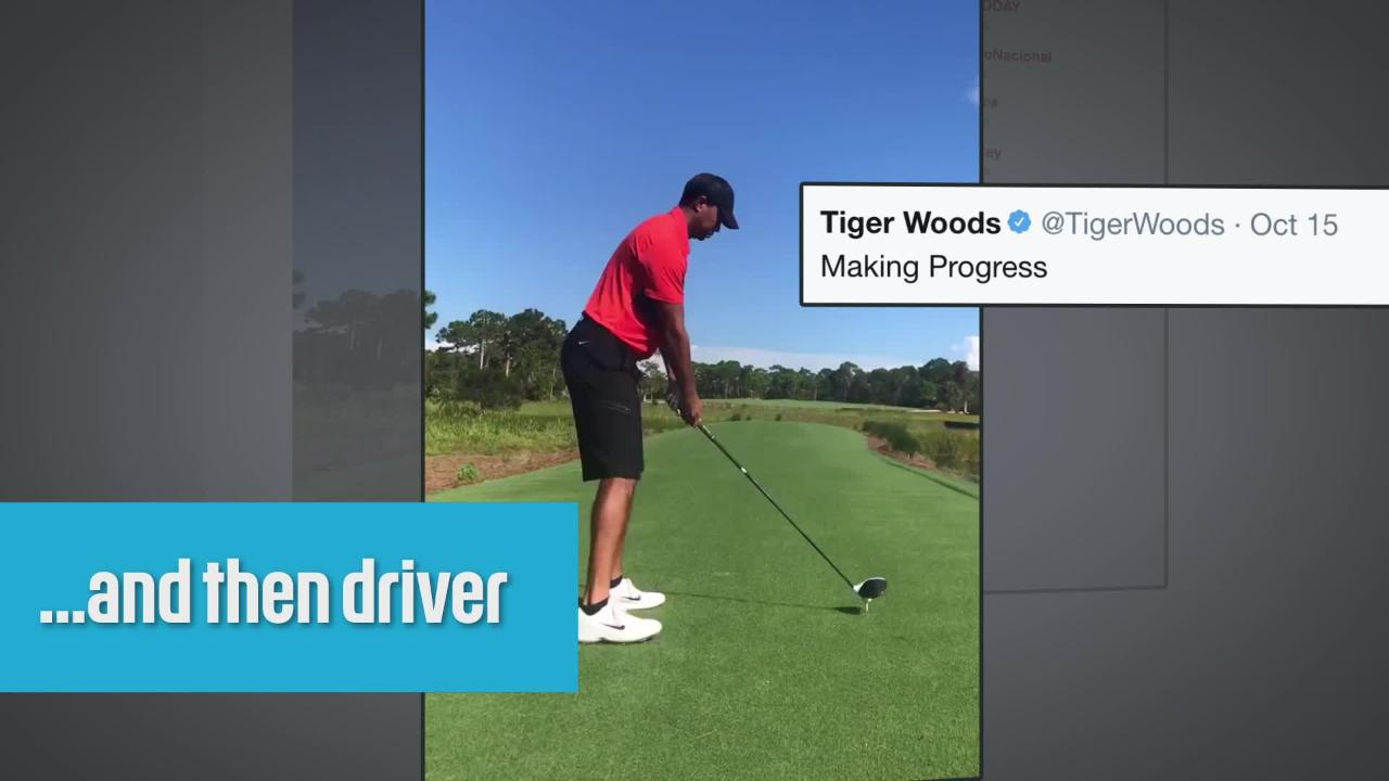 tiger woods videos send golf world into frenzy