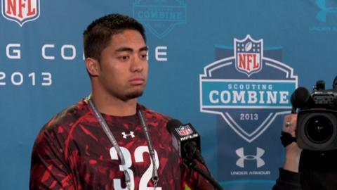 Te'o addresses media at NFL combine